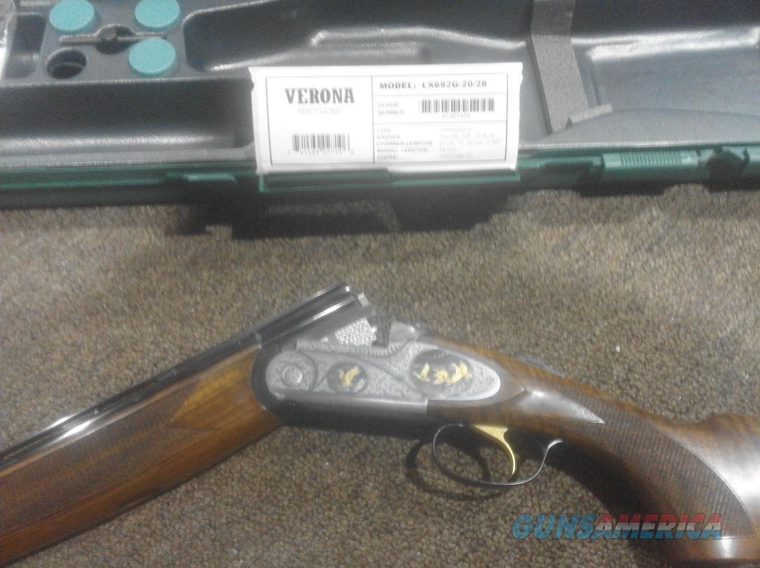 Verona  20/28 ga combo.W/case and 6 choke tubes MODEL LX692G-20/28 24 K GOLD ENLAID  Guns > Shotguns > Verona Shotguns