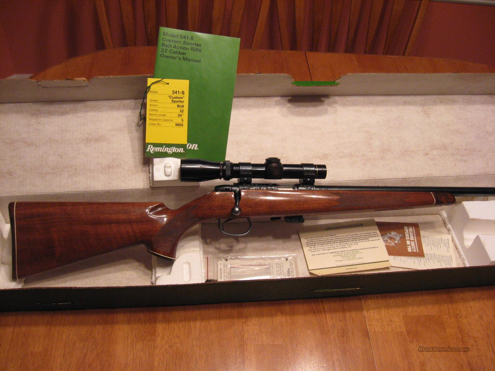 REMINGTON 541-S  Guns > Rifles > Remington Rifles - Modern > Non-Model 700