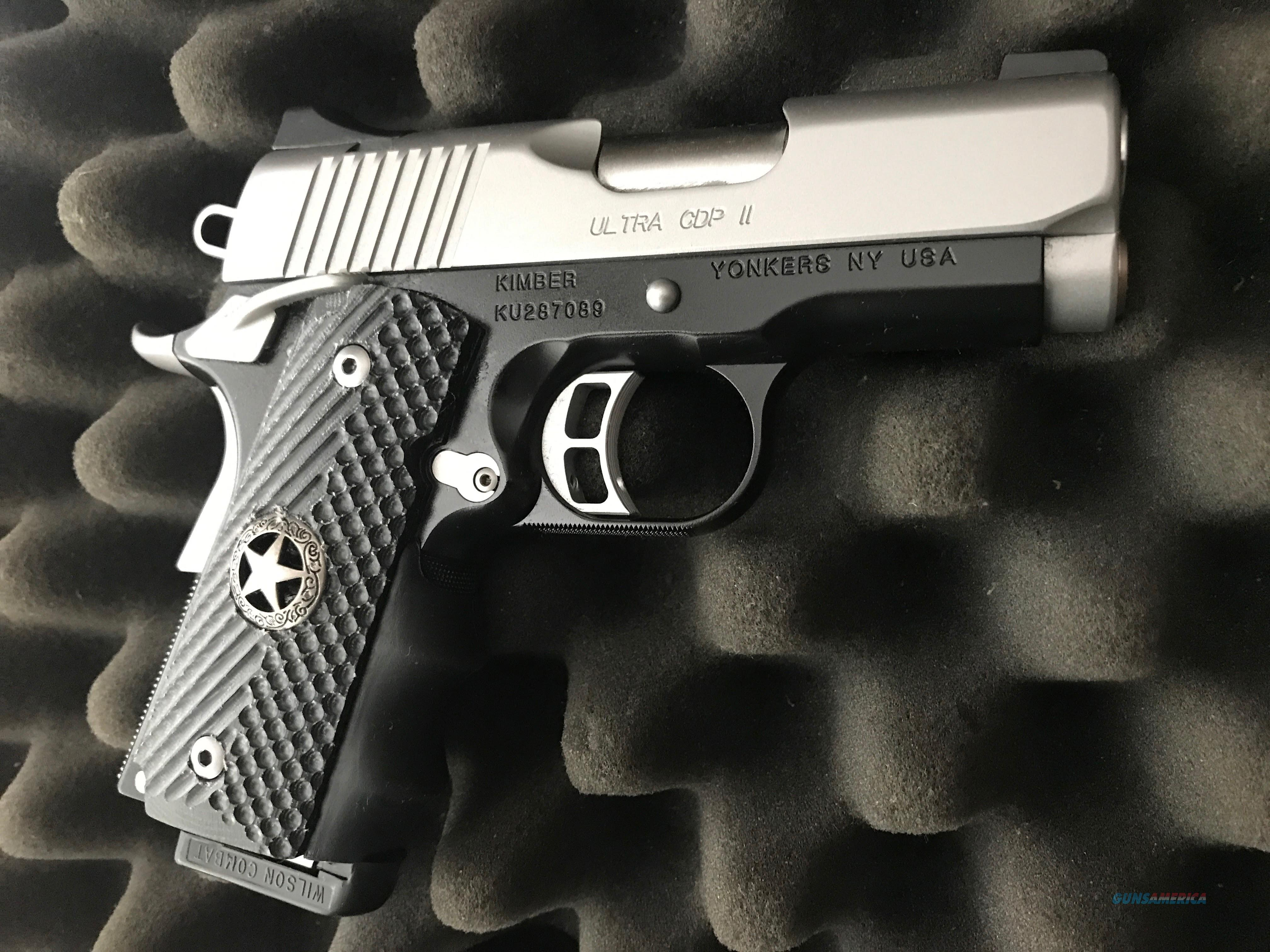 Kimber Ultra CDP II (with custom G 10 Grips and leather holster)  Guns > Pistols > Kimber of America Pistols > 1911