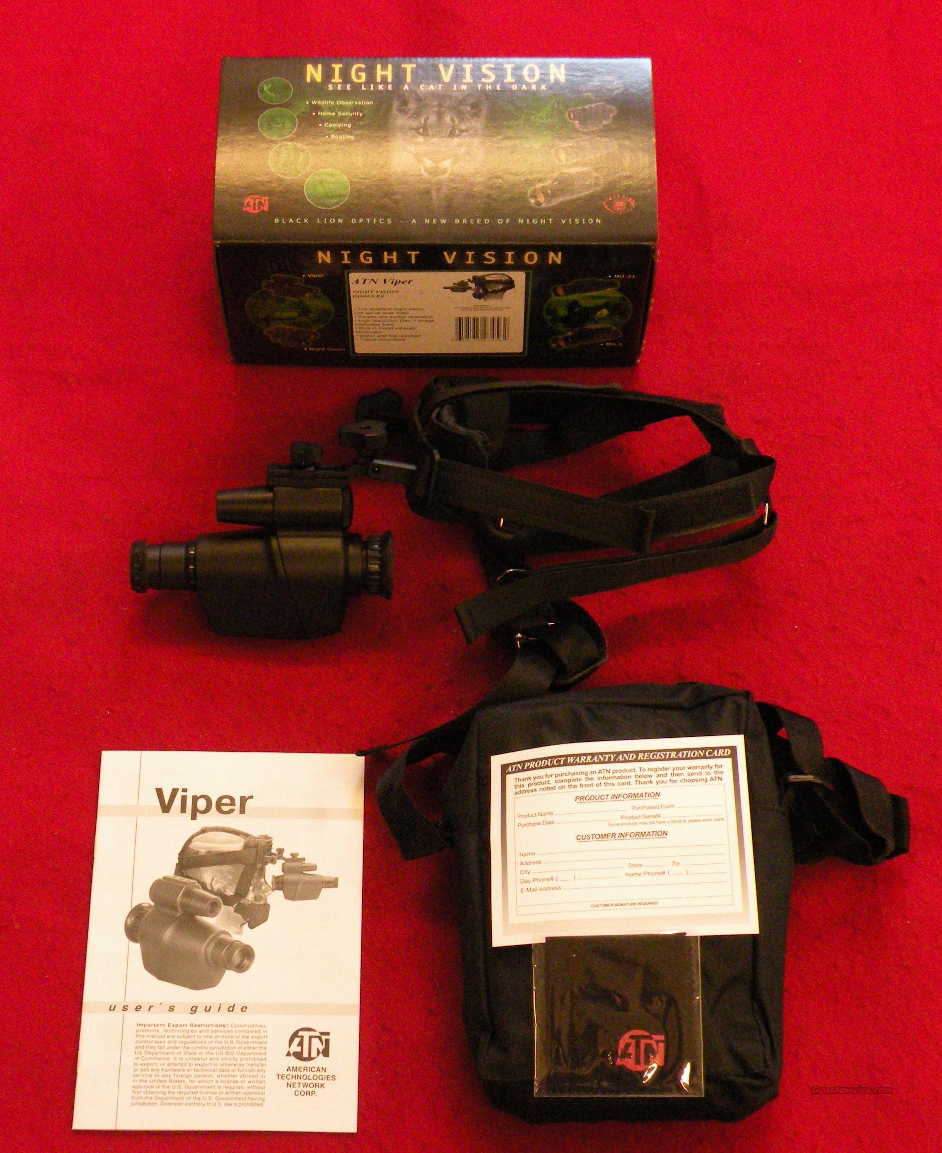 ATN Viper Gen 1 Gen-1 NVG Wearable Night Vision  Non-Guns > Night Vision
