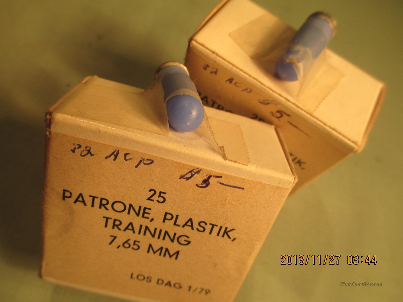 7.65 MM TRAINING PLASTIC 50 ROUNDS  Non-Guns > Ammunition