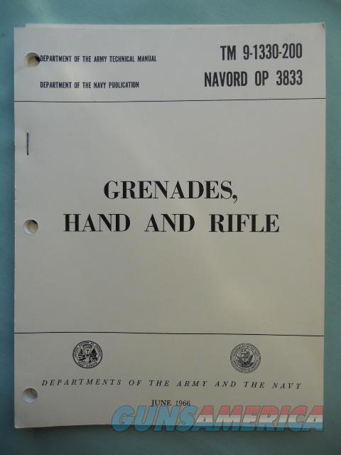 Grenades, Hand and Rifle TM9-1330-200 / Navord OP 3853  Non-Guns > Ammunition