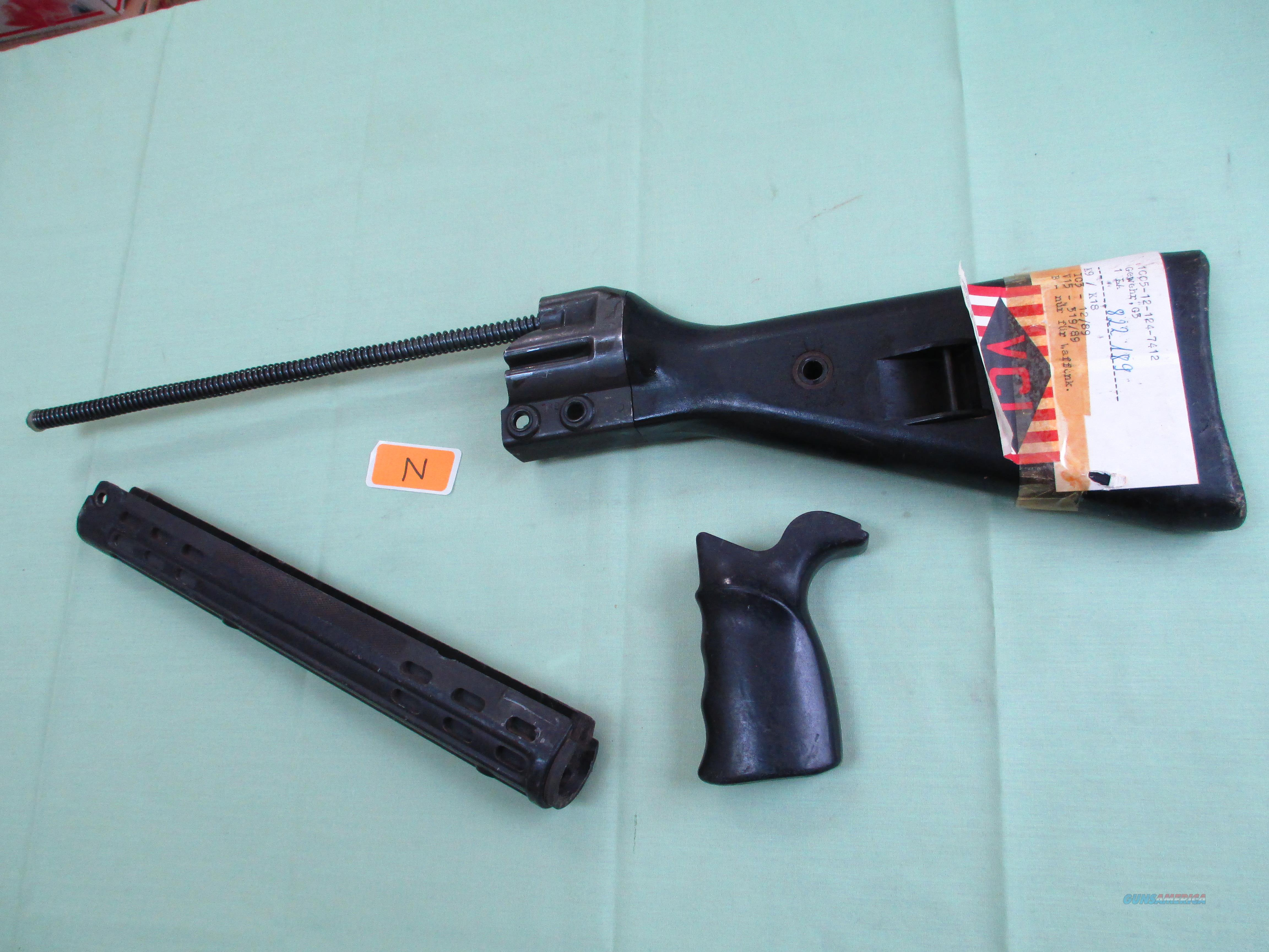 HK G3 SURPLUS BLACK STOCK SET  Non-Guns > Gun Parts > Military - Foreign