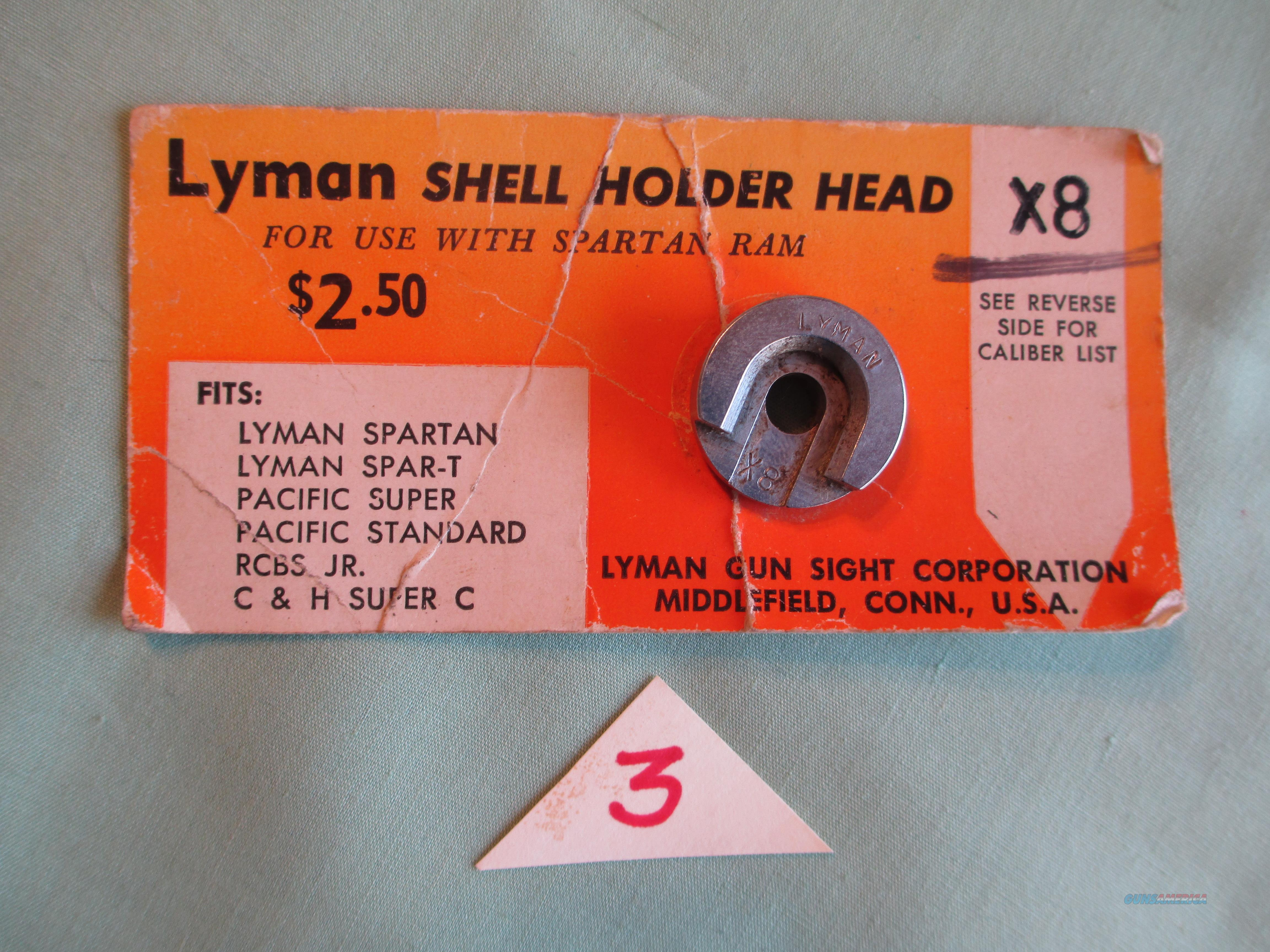"LYMAN SHELL HOLDER HEAD ""8X"" FOR 257 ROBERTS  Non-Guns > Reloading > Components > Brass"