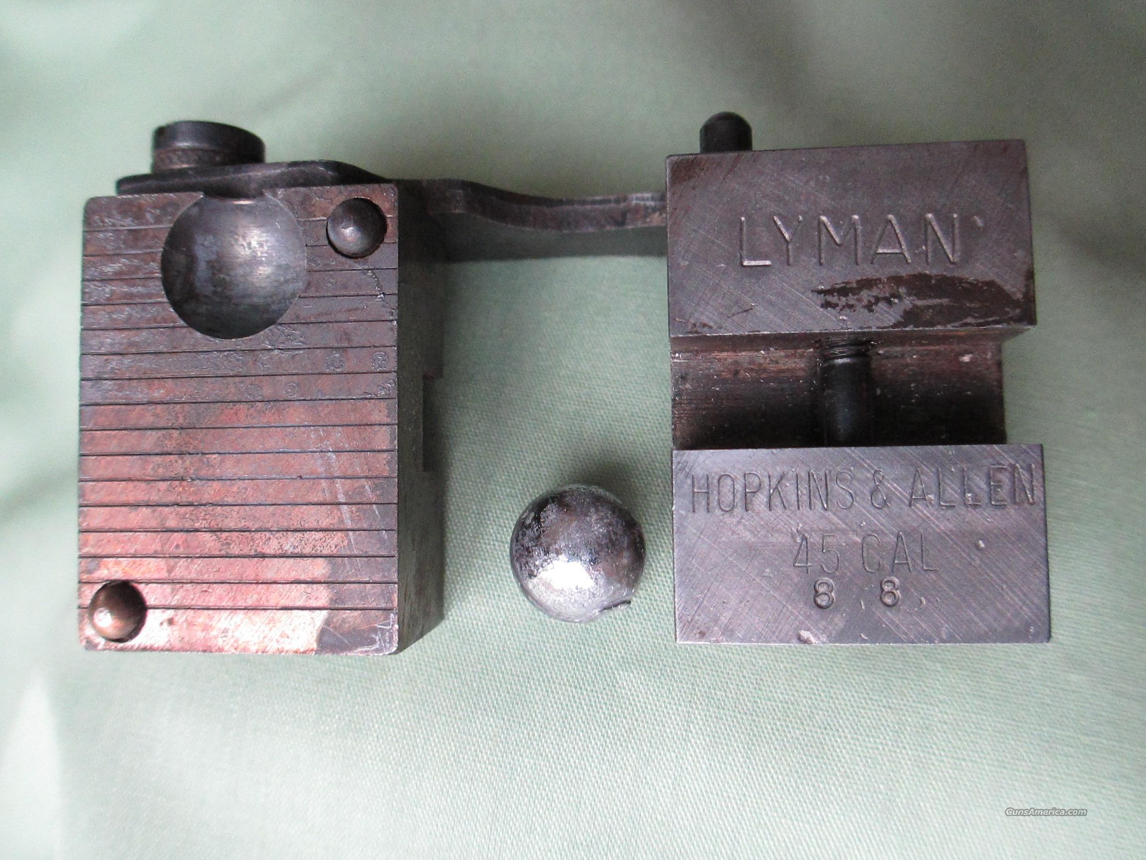 LYMAN .45 CAL HOPKINS & ALLEN  Non-Guns > Bullet Making Supplies