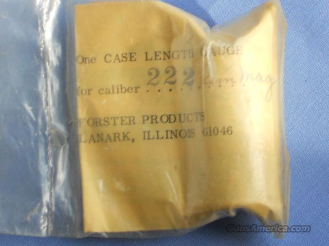 .222 REM MAG.  CASE LENGTH GAUGE.... FOSTER  Non-Guns > Bullet Making Supplies
