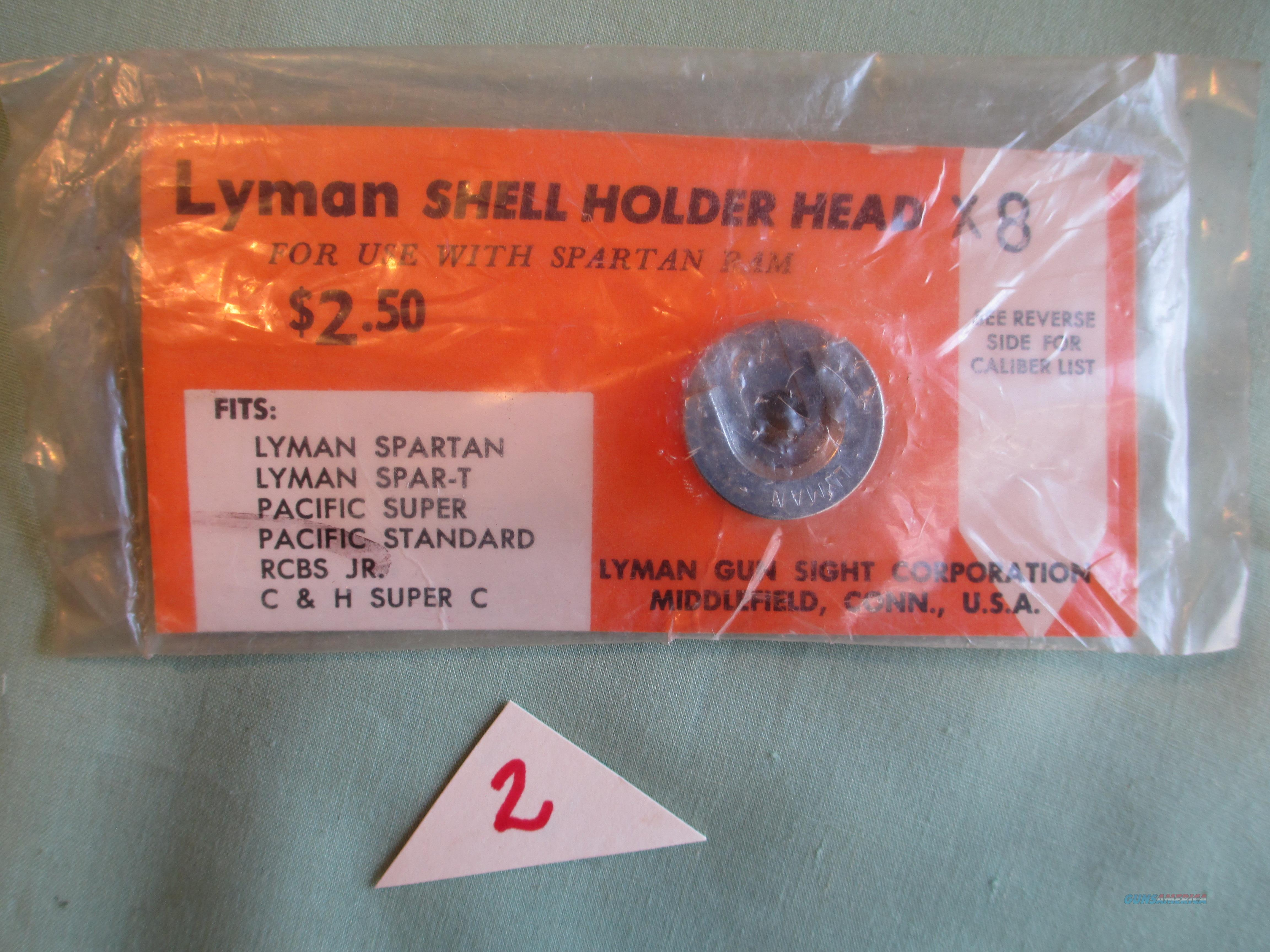 """LYMAN SHELL HOLDER HEAD """"8X"""" FOR 257 ROBERTS  Non-Guns > Reloading > Components > Brass"""