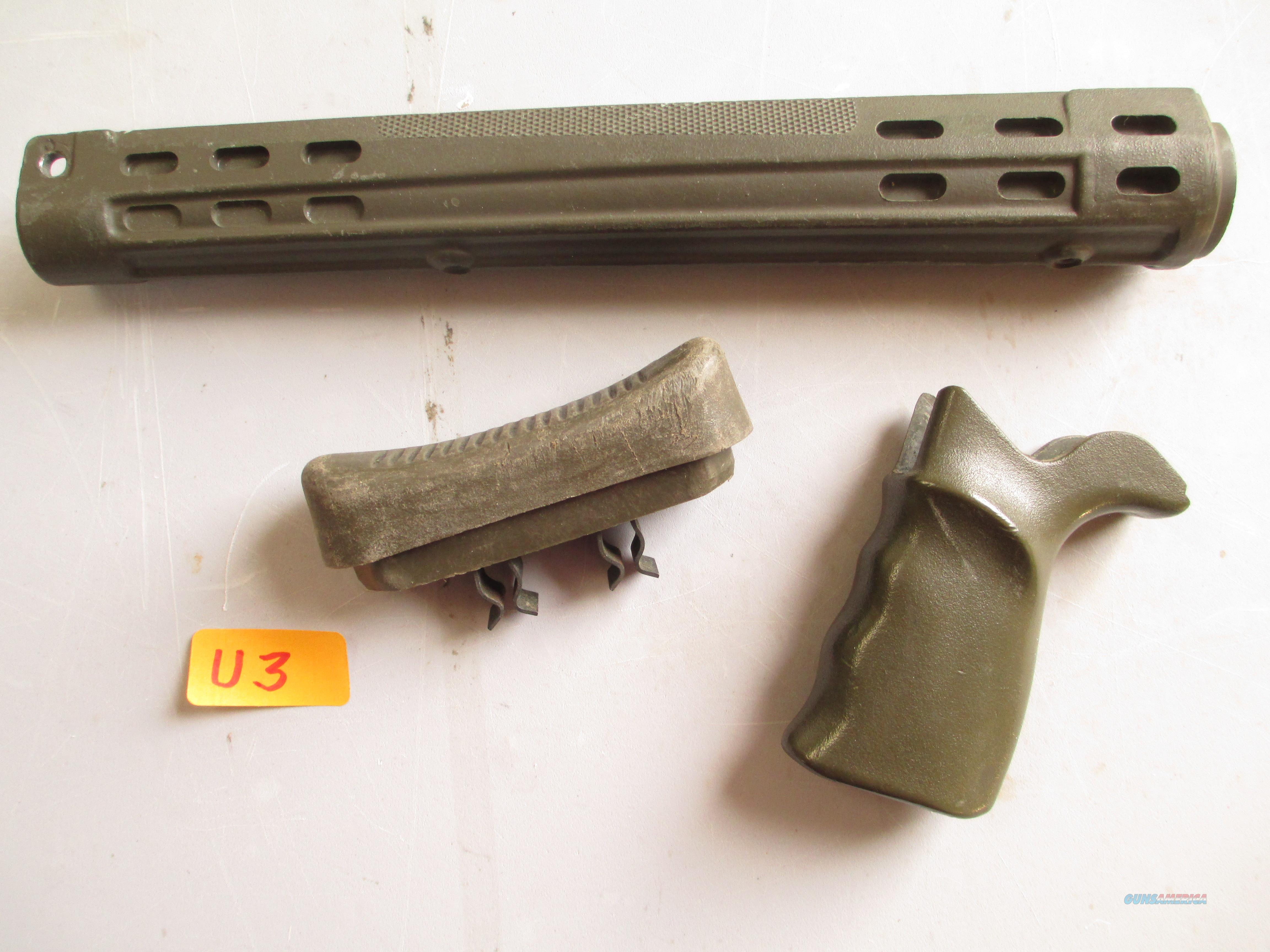 HK / G3 -  GERMAN FOREND  PISTOL  GRIP AND BUTTPLATE ..SET  Non-Guns > Gun Parts > Military - Foreign