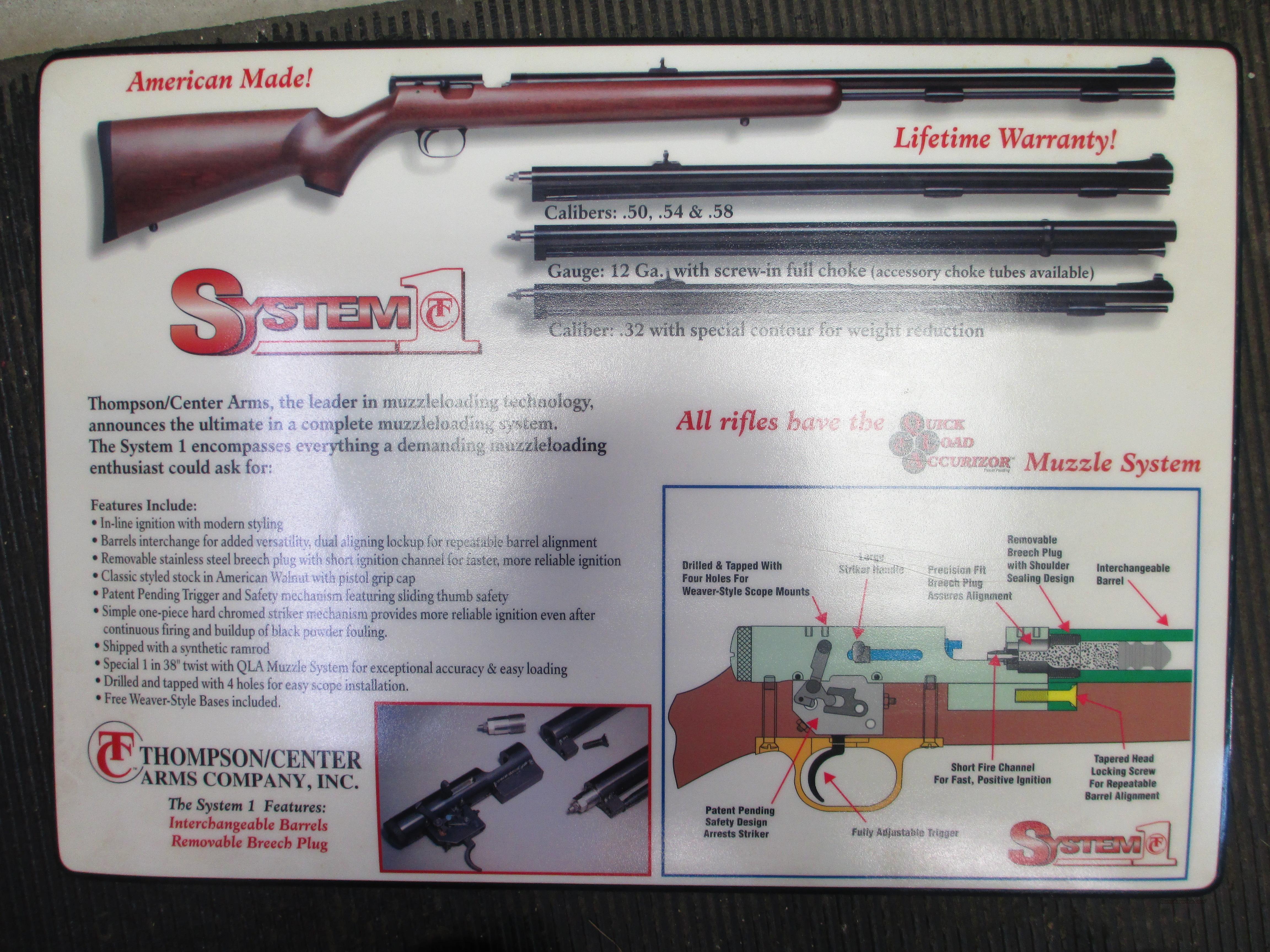 THOMPSON CENTER  ORIGIONAL COUNTER MAT TC SYSTEM 1  Non-Guns > Black Powder Muzzleloading