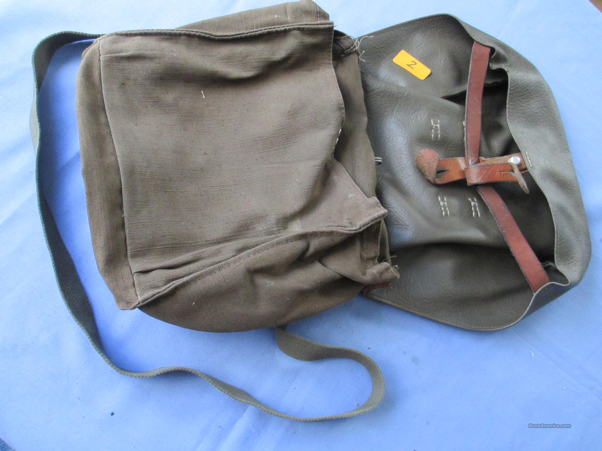 Swiss Army Military Canvas Leather Messenger Bread Surplus Bag Vintage WWI WWII  Non-Guns > Military > Web Gear