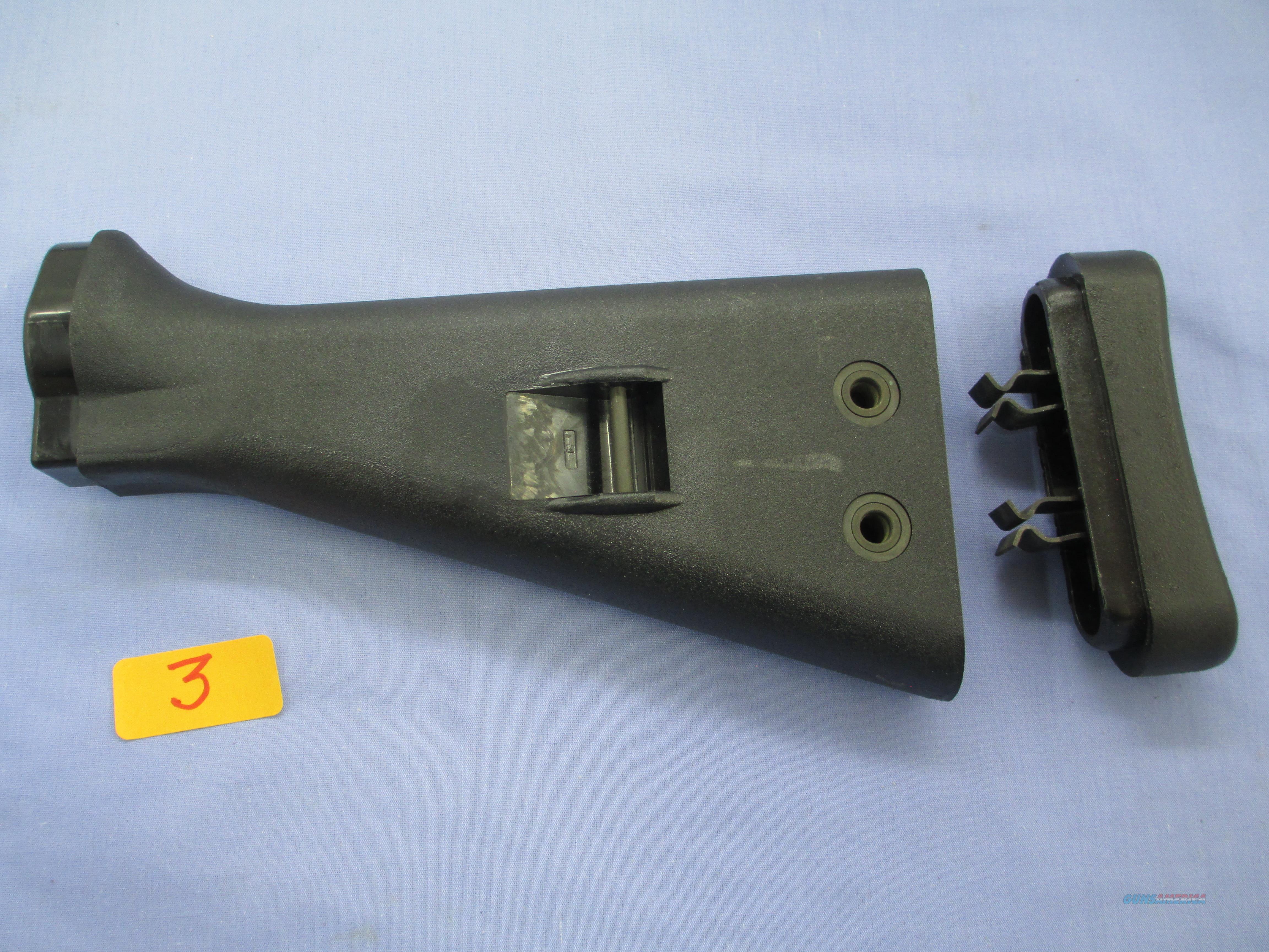 HK91  G3 PTR91 BLACK BUTTSTOCK SET WEST GERMAN MFG.  Non-Guns > Gun Parts > Military - Foreign