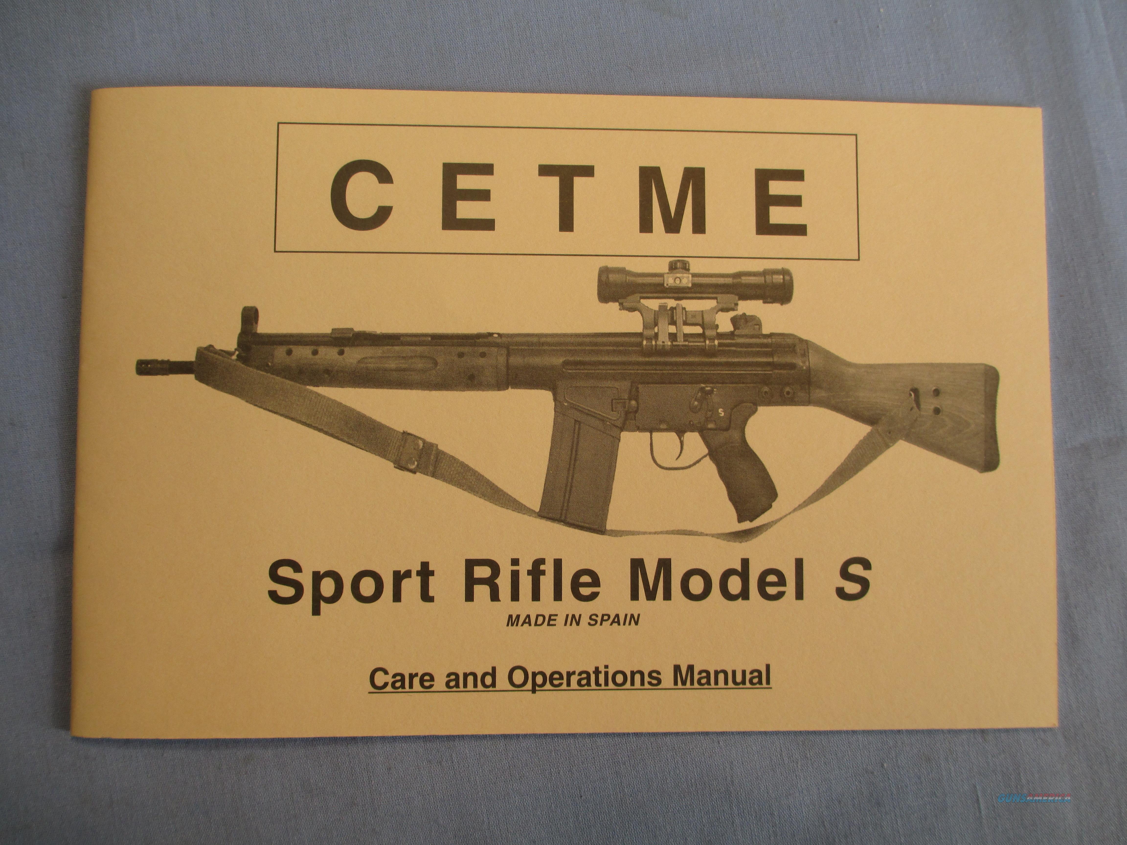 CETME MODLEL S RIFLE MANUAL HANDBOOK   Non-Guns > Gun Parts > Military - Foreign