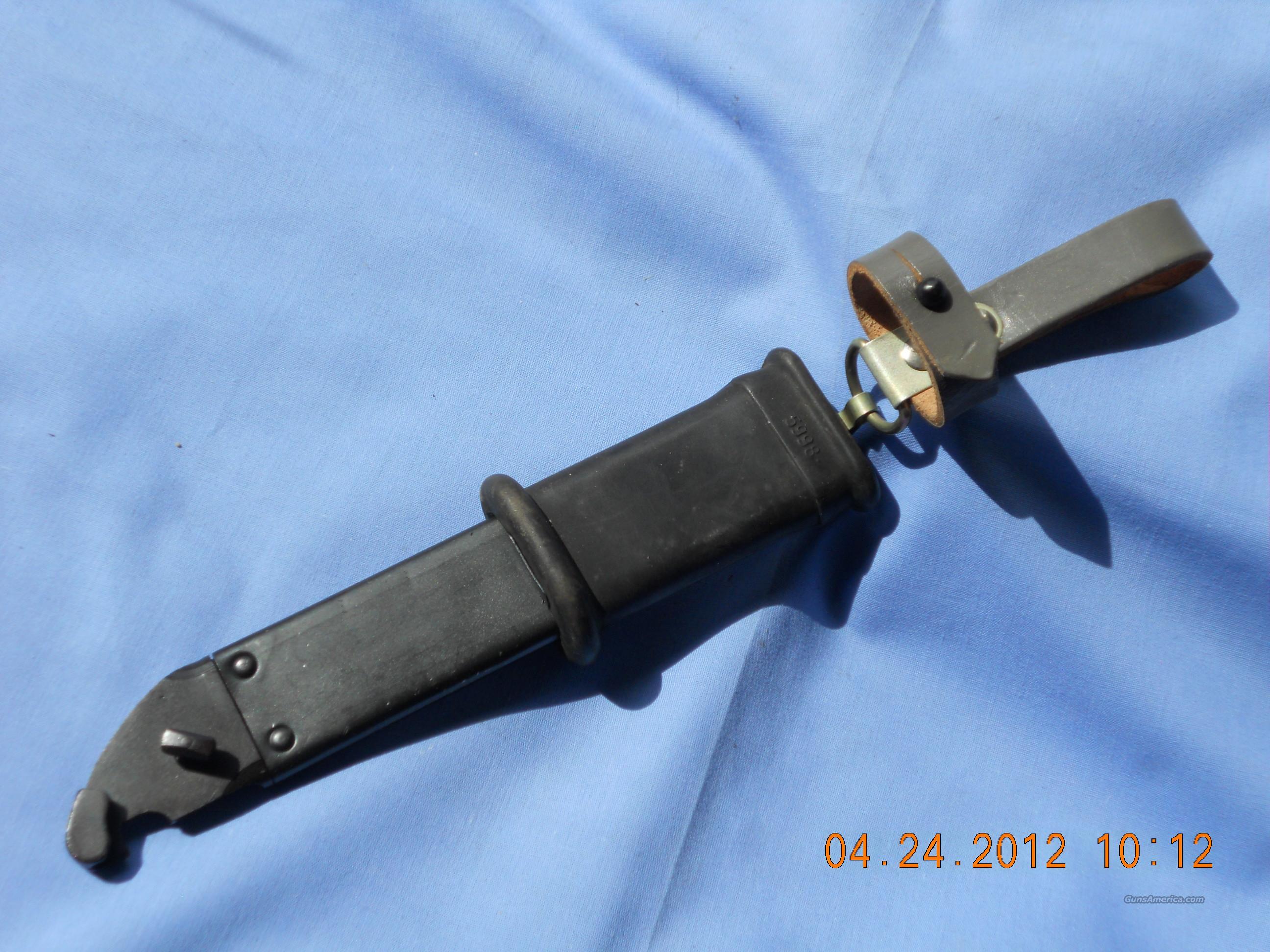 AK EAST GERMAN SCABBARD  Non-Guns > Knives/Swords > Military > Bayonets