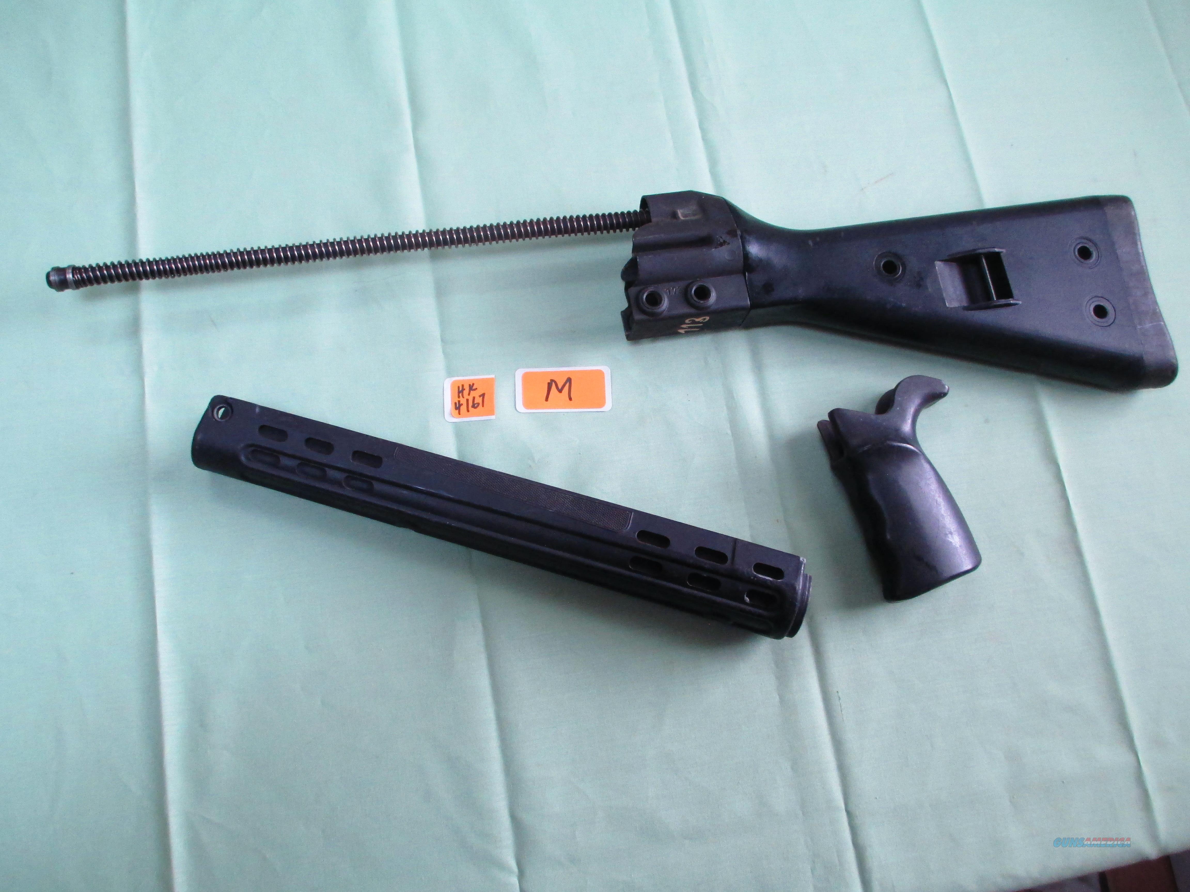 HK G3 SURPLUS BLACK STOCK SET  Non-Guns > Gun Parts > Military - Foreign