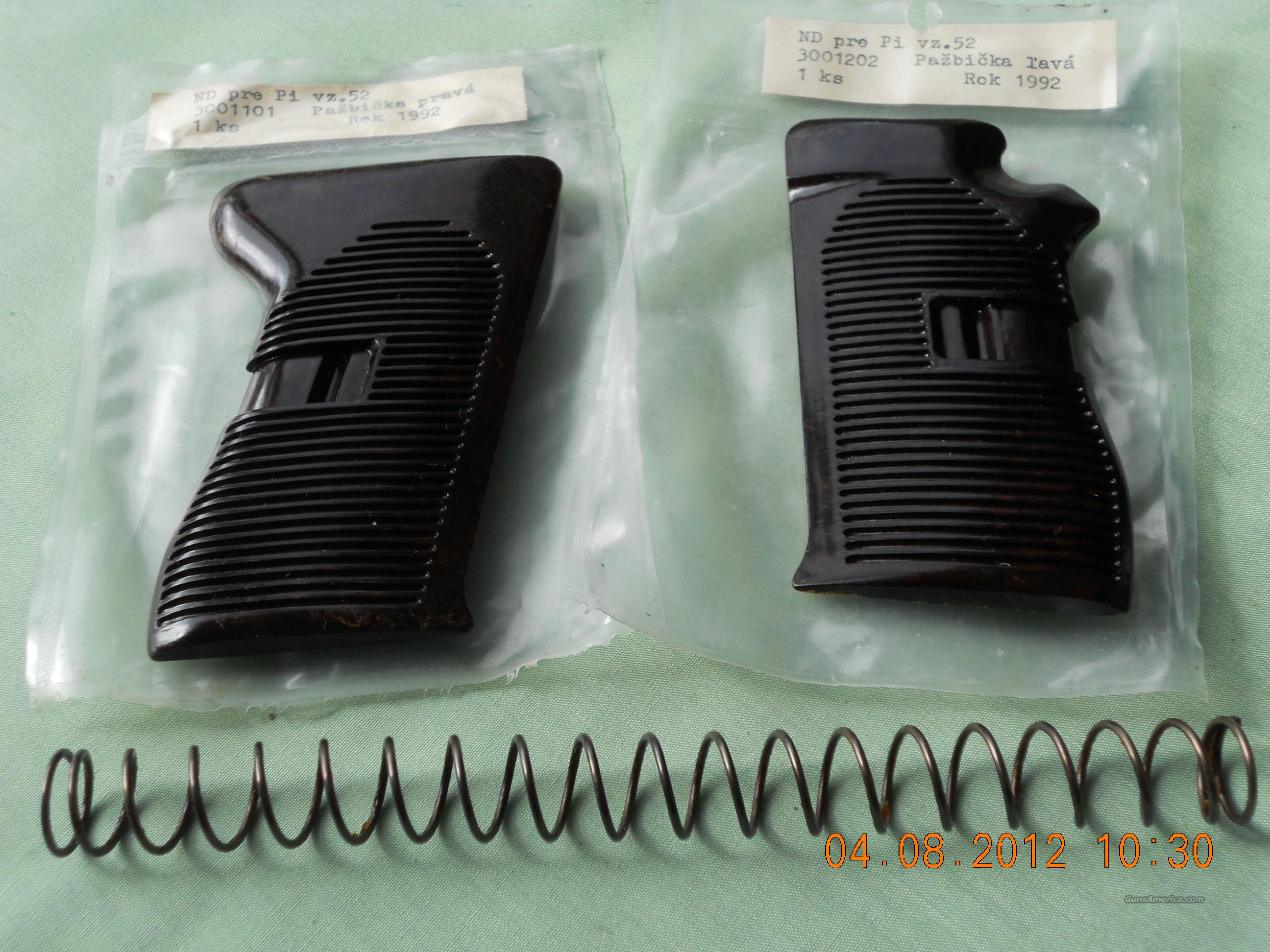 CZ-52 PISTOL GRIP SET & RECOIL SPRING  Non-Guns > Gun Parts > Military - Foreign
