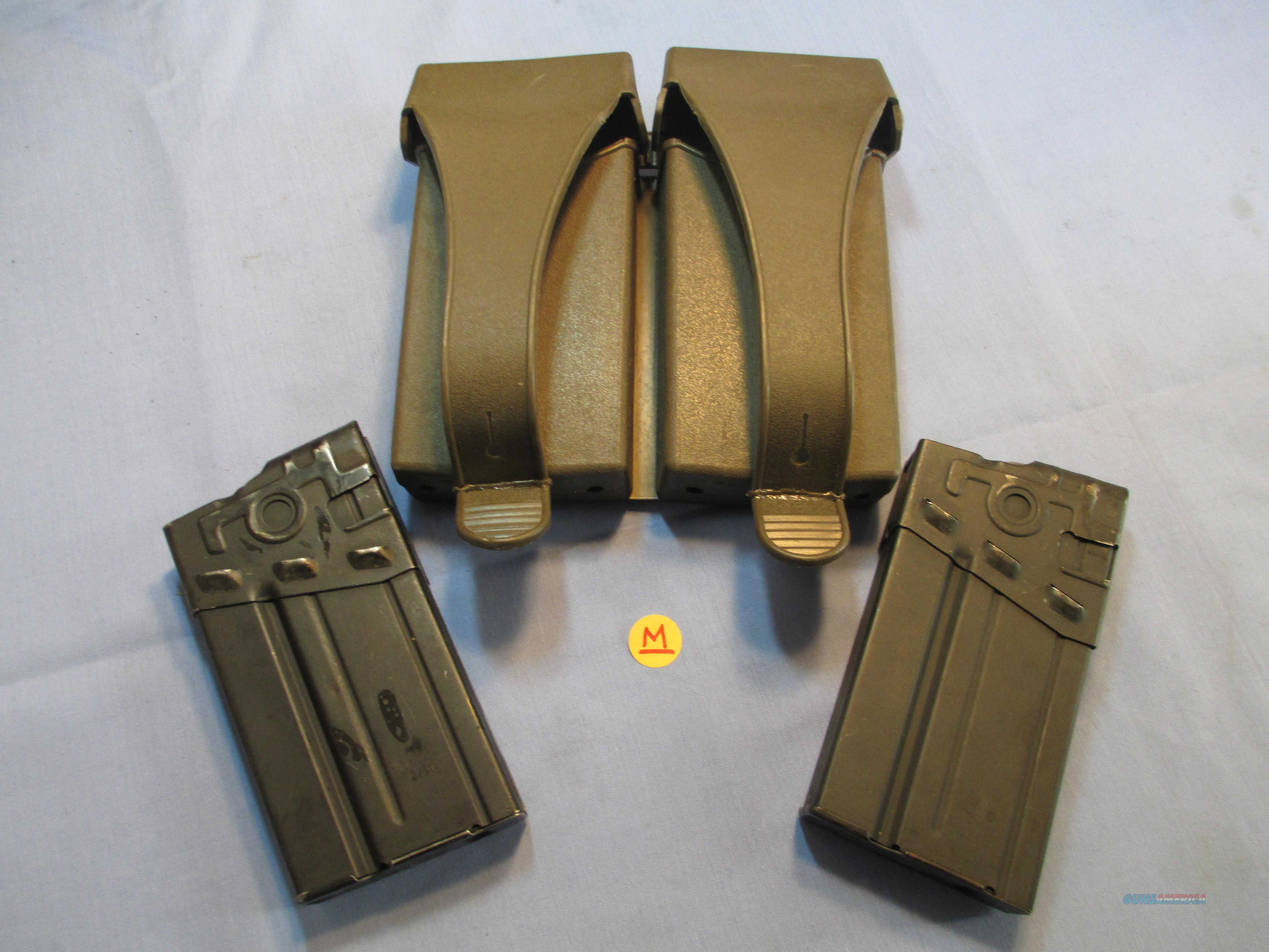 HK/G3 GERMAN STEEL MAGAZINES (2-PK) WITH RUBBER MAG POUCH  Non-Guns > Magazines & Clips > Rifle Magazines > HK/CETME