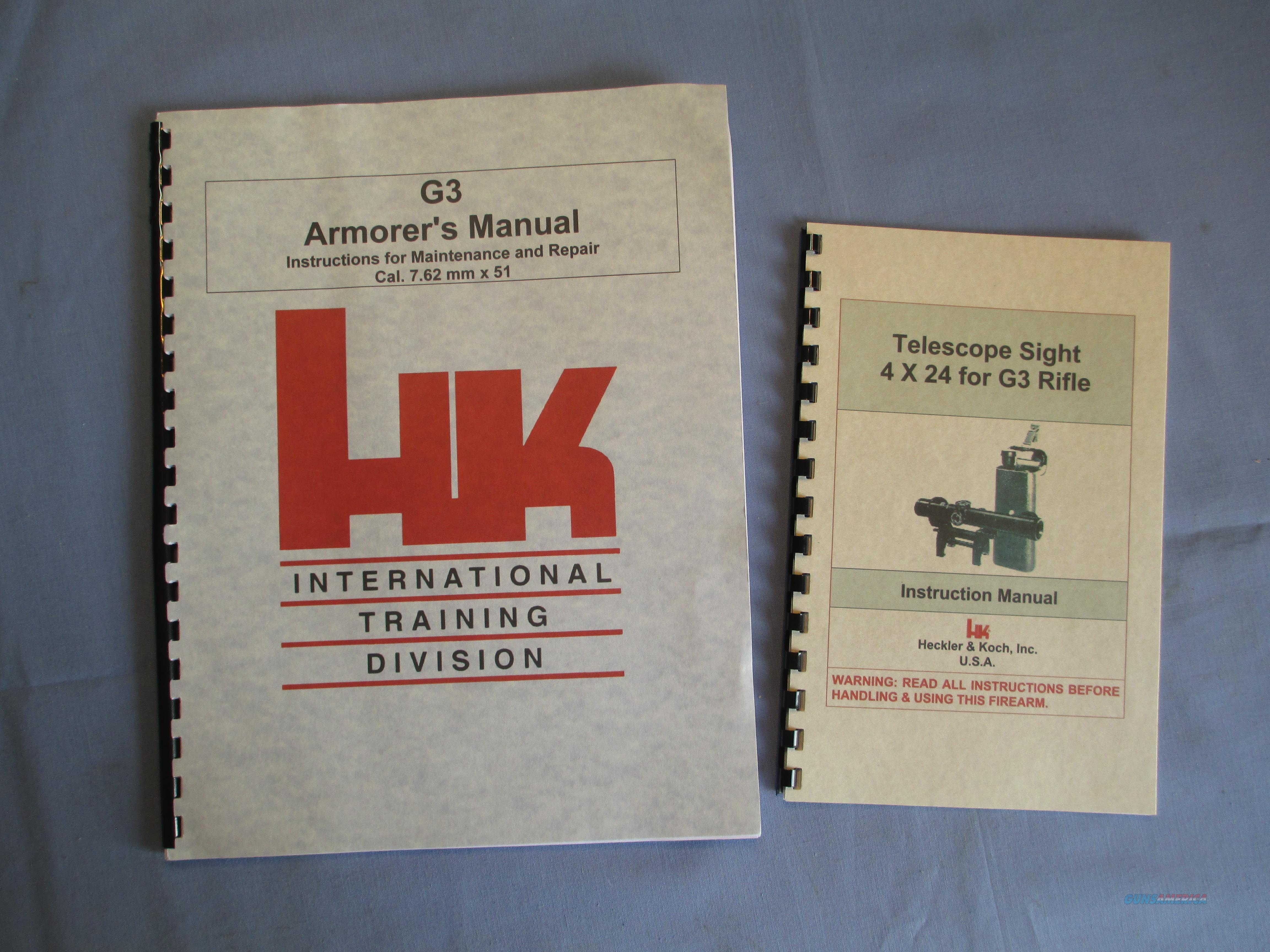 HECKLER & KOCH HK G3 Repair and Maintenance + SCOPE Rifle Owners Manual H&K   Non-Guns > Magazines & Clips > Rifle Magazines > HK/CETME