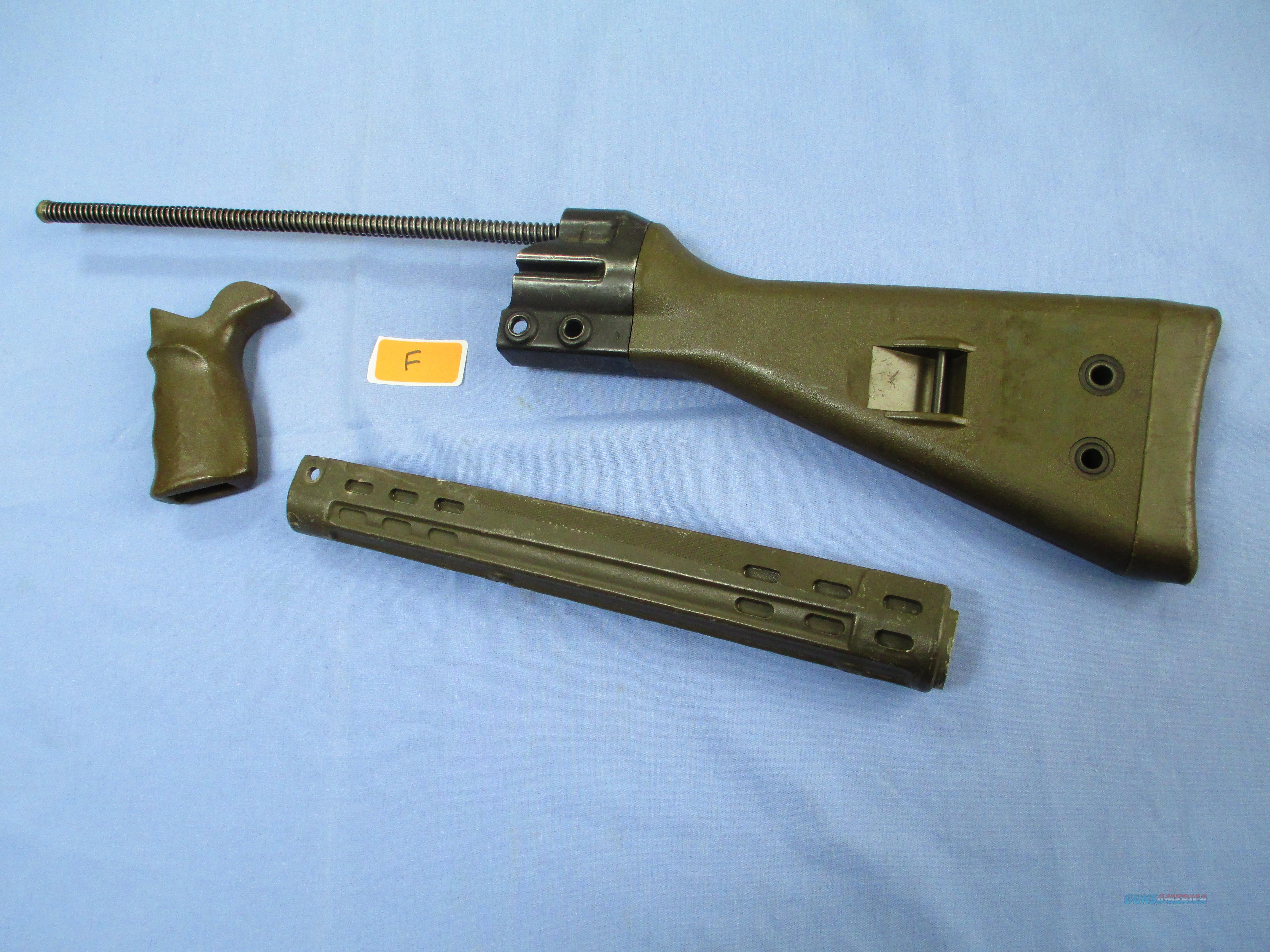 HK G3 , 91 , PTR......GERMAN SURPLUS green STOCK SET  Non-Guns > Gun Parts > Military - Foreign