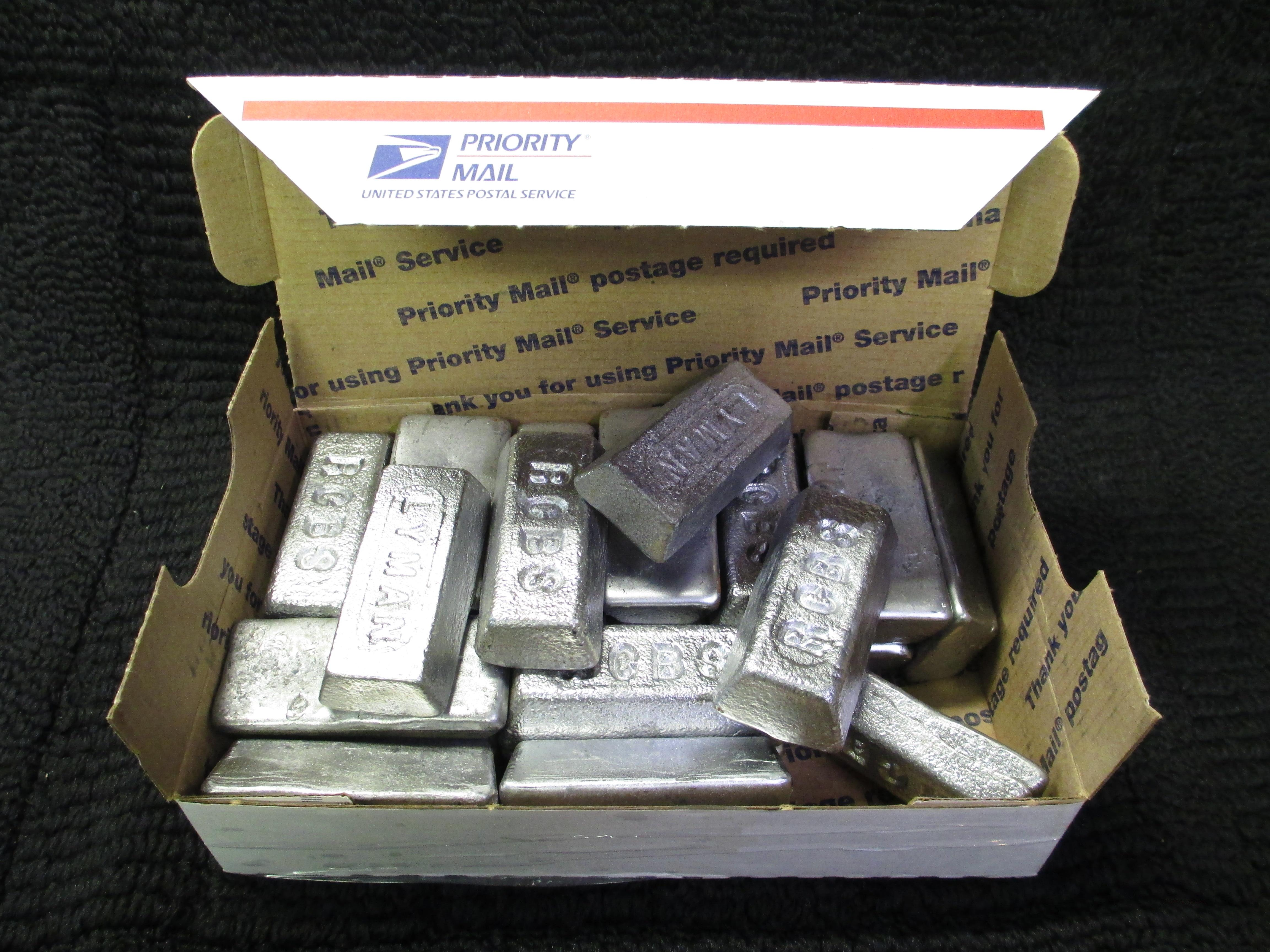 20 pounds of lead ingots for reloading, sinkers, etc.  Non-Guns > Bullet Making Supplies