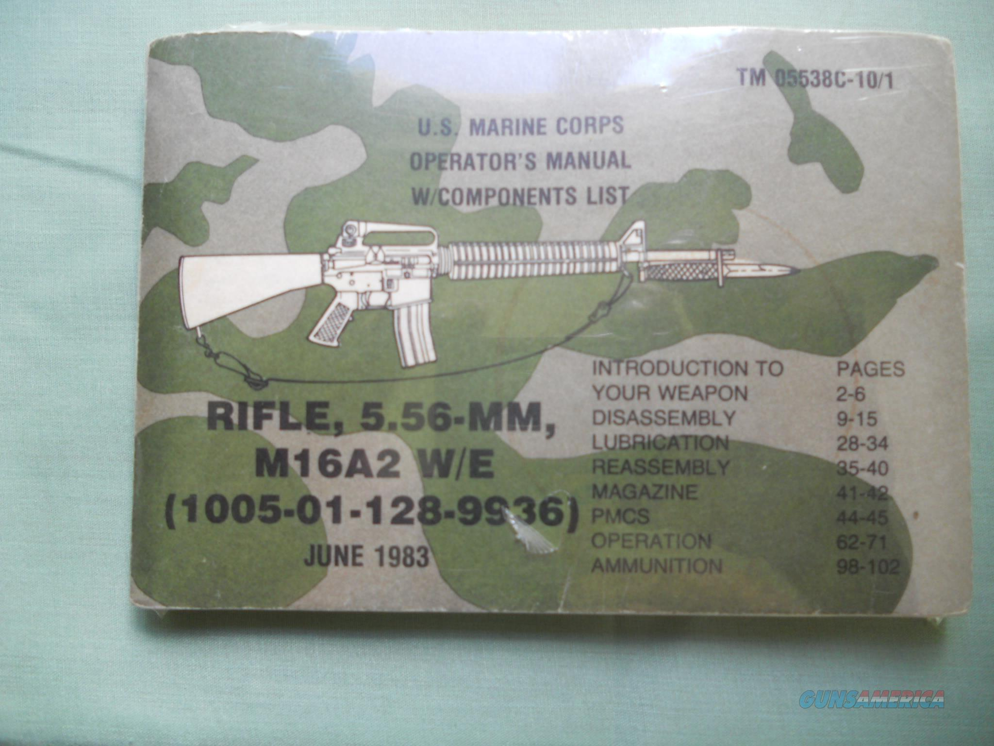U.S. MARINE CORPS RIFLE , 5.56-MM M16A2 W/E ... Operator's TM 05538C-10/1 ,   Non-Guns > Magazines & Clips > Rifle Magazines > AR-15 Type