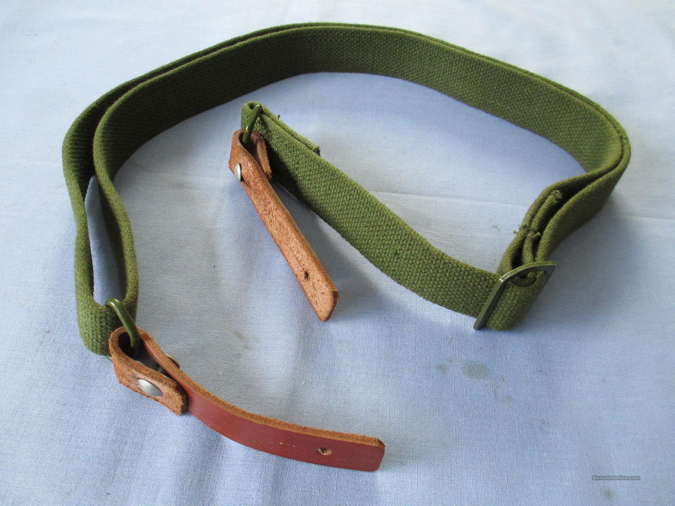 SKS Sling w/Leather Tabs, New Original  Non-Guns > Gun Parts > Military - Foreign