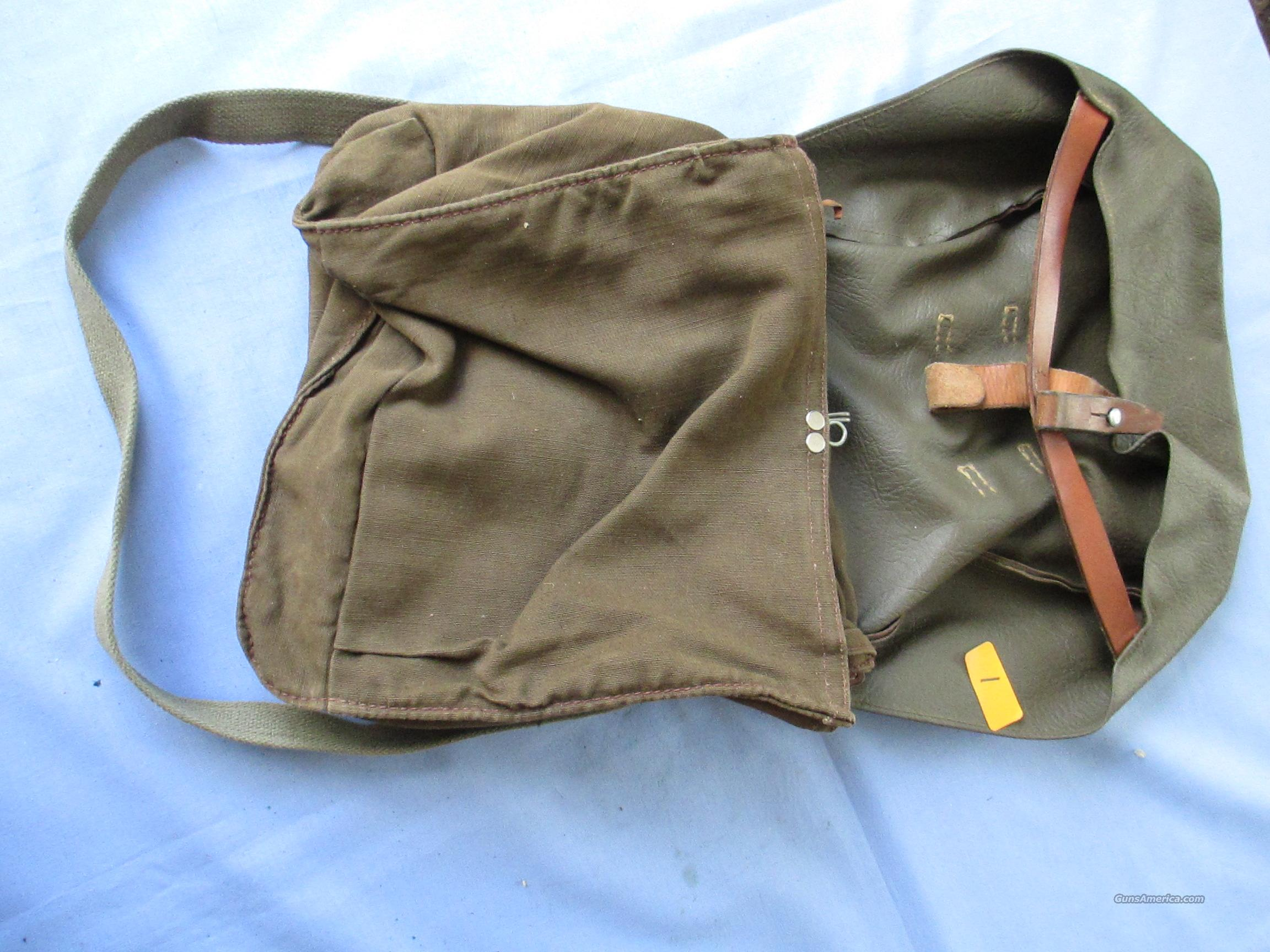 Swiss Army Military Canvas Leather Messenger Bread Surplus Bag ... WWI WWII  Non-Guns > Military > Backpacks > Surplus > Non-US