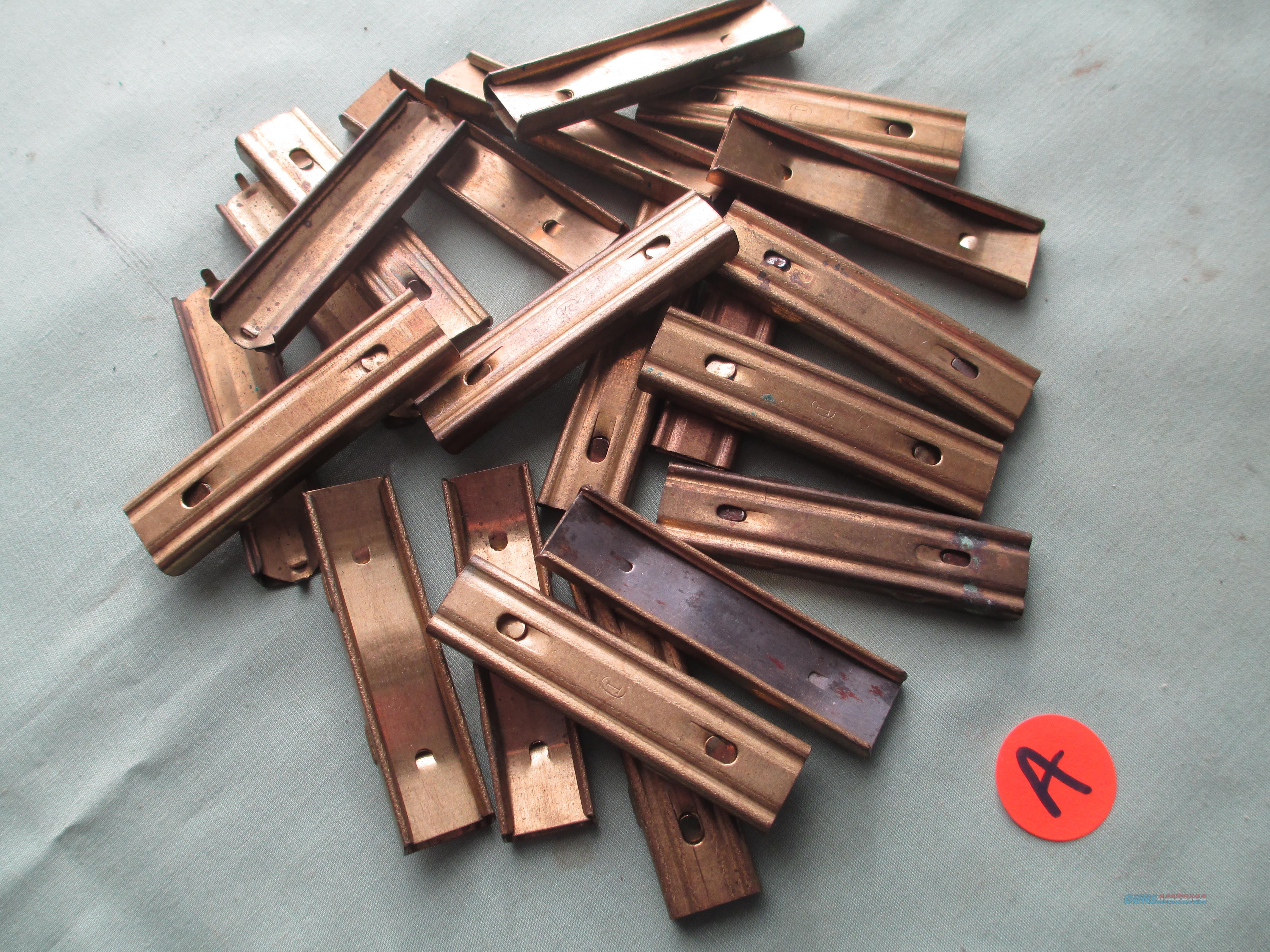 "SPANISH MAUSER  STRIPPER CLIPS ( 18 pack...) marked with "" T "" in Oval....  Non-Guns > Magazines & Clips > Rifle Magazines > Other"