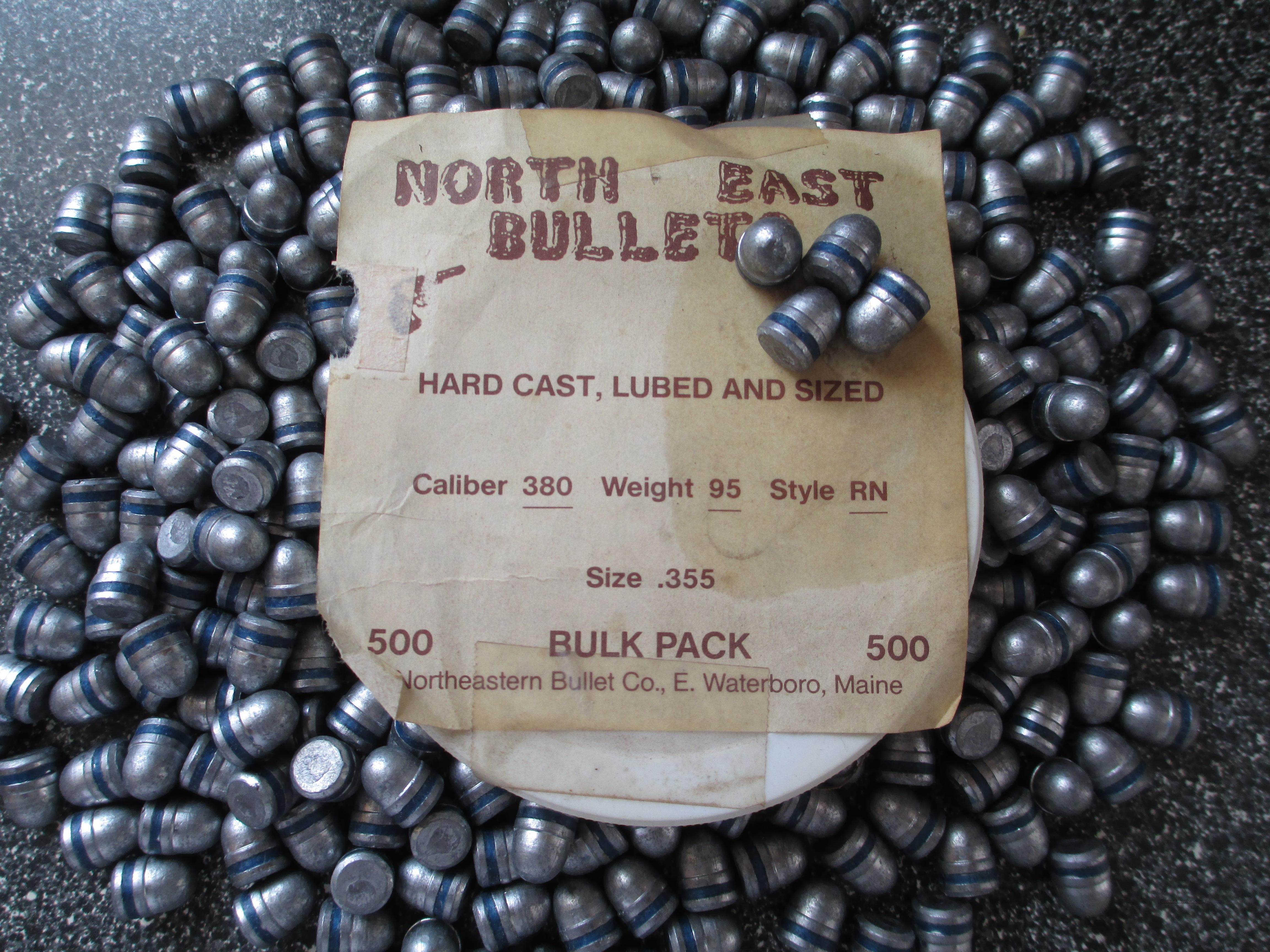 NORTH EAST .380 LEAD BULLETS  Non-Guns > Reloading > Components > Bullets