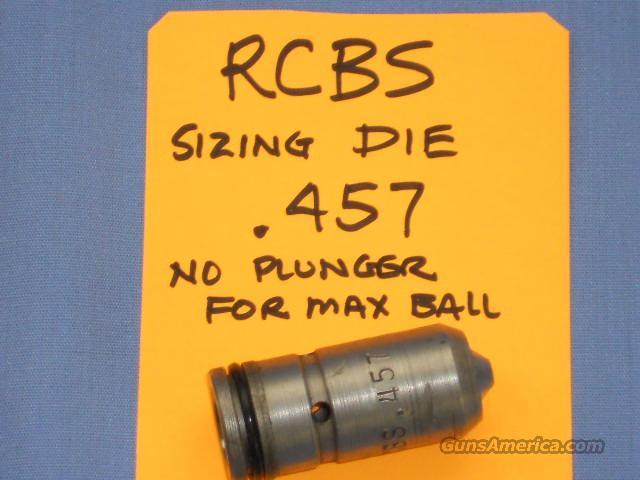 RCBS .457 SIZING DIE  Non-Guns > Bullet Making Supplies
