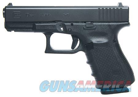 GLOCK PG1950203 9MM GEN4 COMPACT PISTOL  Guns > Pistols > Glock Pistols > 19/19X
