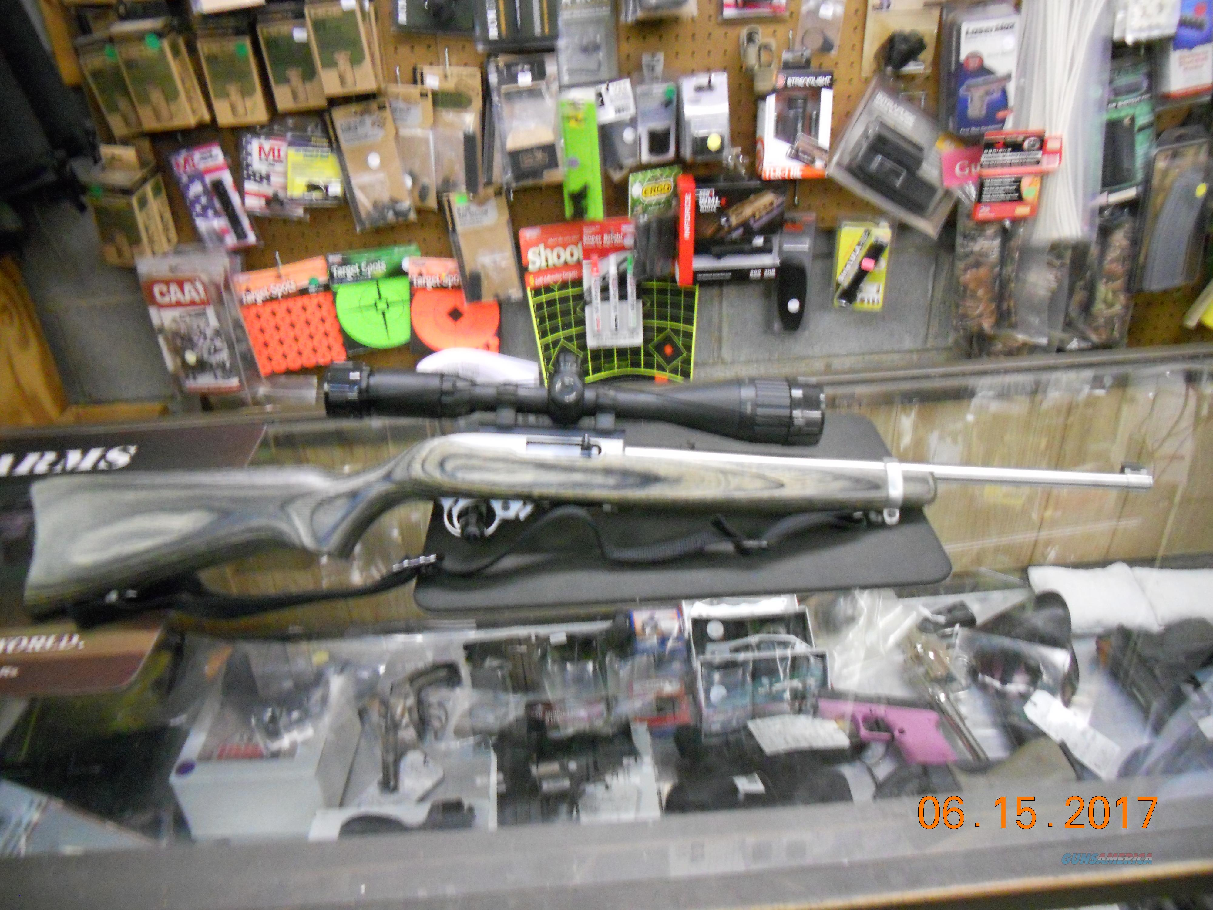 RUGER 10/22 SPORTER CARBINE 22LR SS BARREL,GREEN LAM STOCK  Guns > Rifles > Ruger Rifles > 10-22
