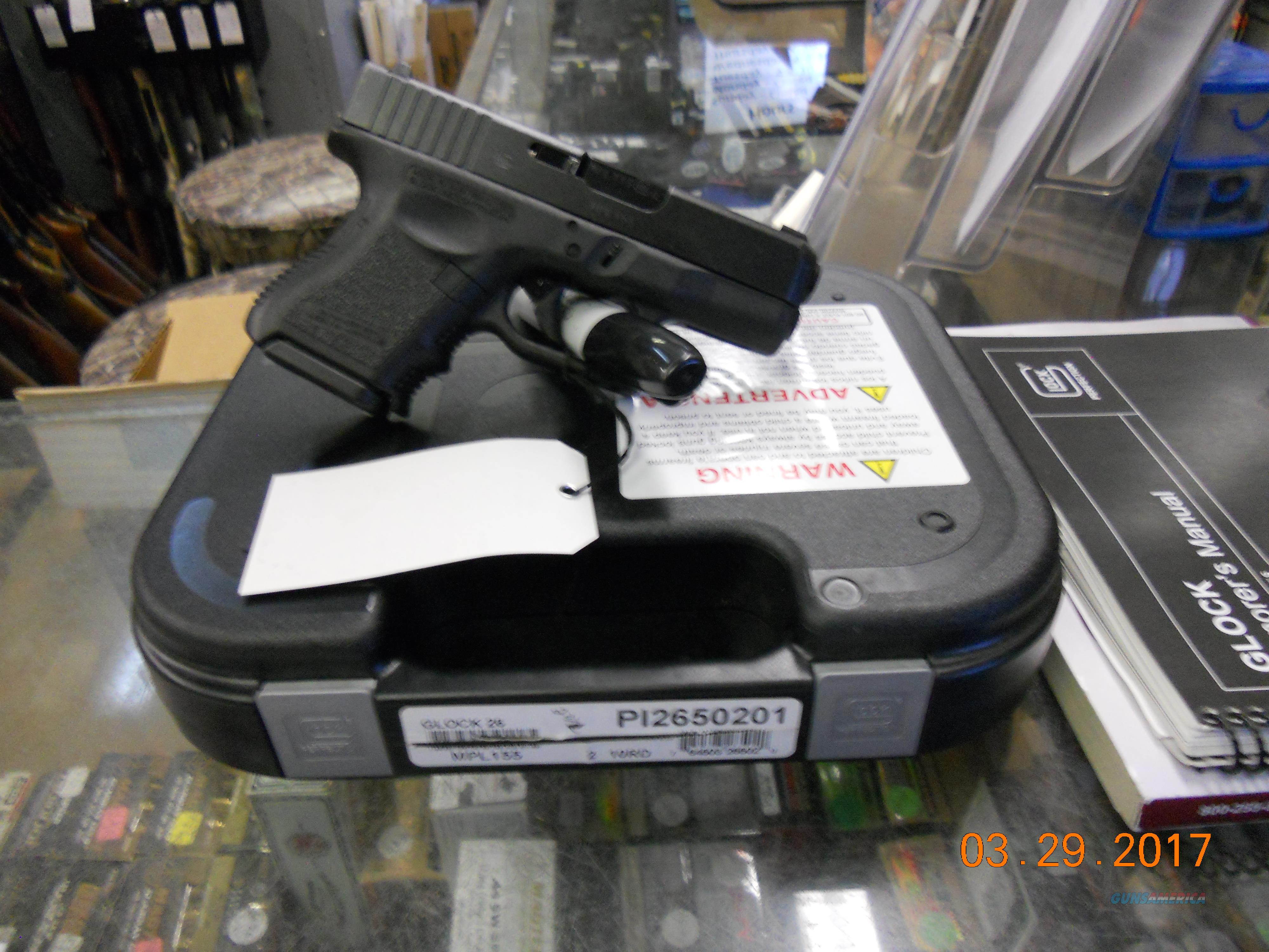 GLOCK PI2650201 26 9MM PISTOLW/XS BIG DOT NIGHT SITE  Guns > Pistols > Glock Pistols > 26/27
