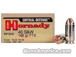 HORNADY40 S&W CRITICAL DEFENSE AMMO  Non-Guns > Ammunition