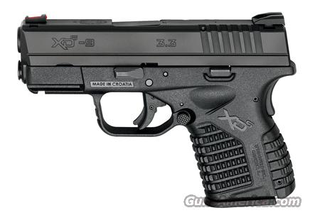 SPRINGFIELD XDS 9MM SUB COMPACT PISTOL  Guns > Pistols > Springfield Armory Pistols > XD-S