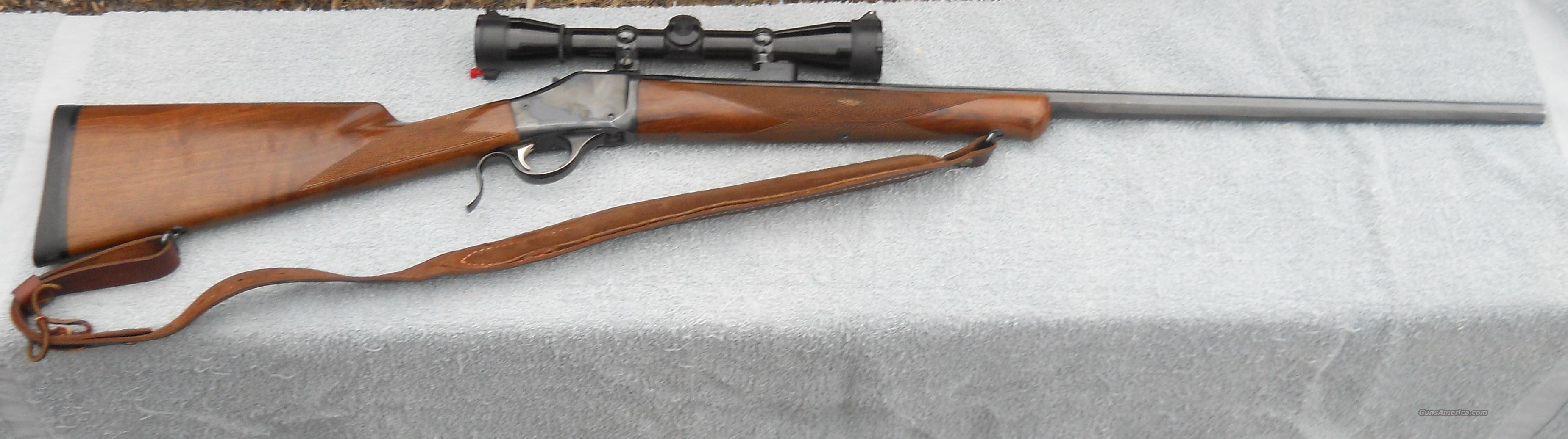 BROWNING MODEL 1885 7MM REMINGTON MAG HIGHWALL W/LEOPOLD SCOPE  Guns > Rifles > Browning Rifles > Lever Action