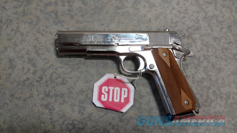 "Cimarron,  1911 Semi Automatic .45 ACP, 5"" Barrel-Nickel  Guns > Pistols > Cimmaron Pistols"