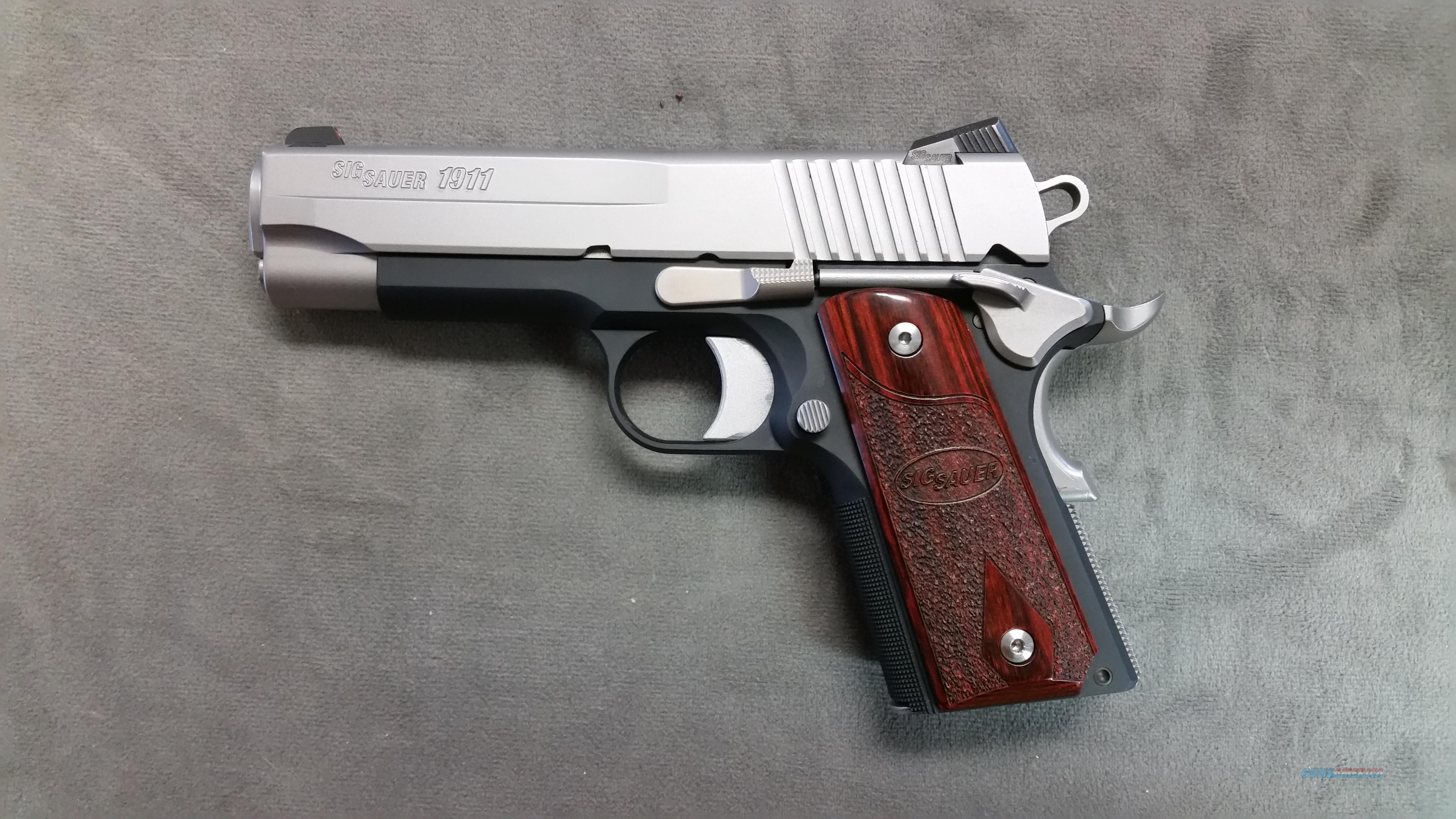 Pre-Owned Sig Sauer 1911 C3 Bi-Tone 45ACP - 4 magazines  Guns > Pistols > Sig - Sauer/Sigarms Pistols > 1911