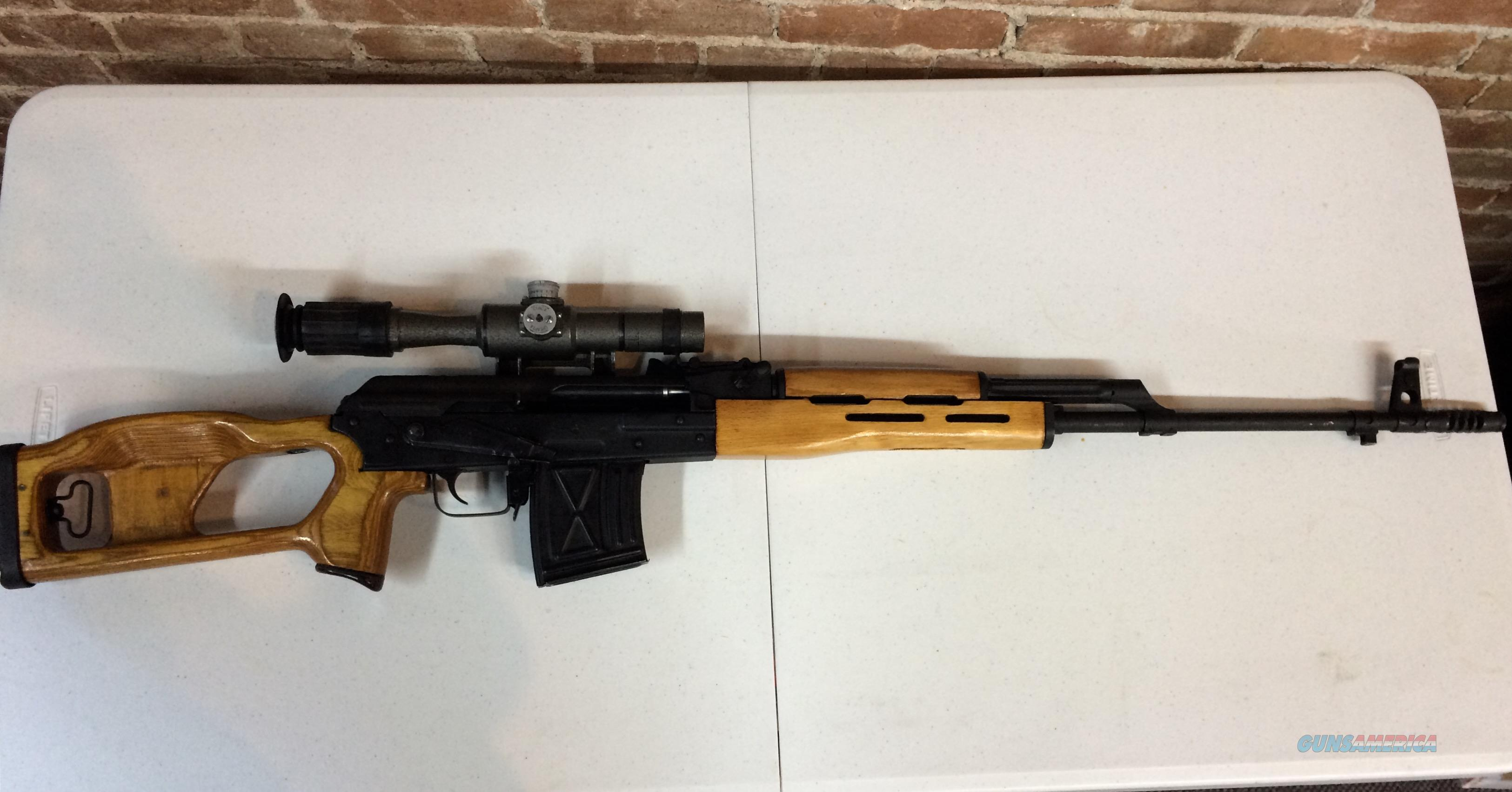 Romanian 7.62x54R PSL-54C Sniper Rifle w/ Scope, Case, and Bayonet  Guns > Rifles > AK-47 Rifles (and copies) > Full Stock