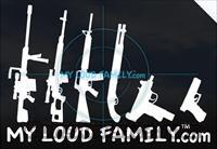 Gun Family Stickers Decals  Logo & Clothing Merchandise