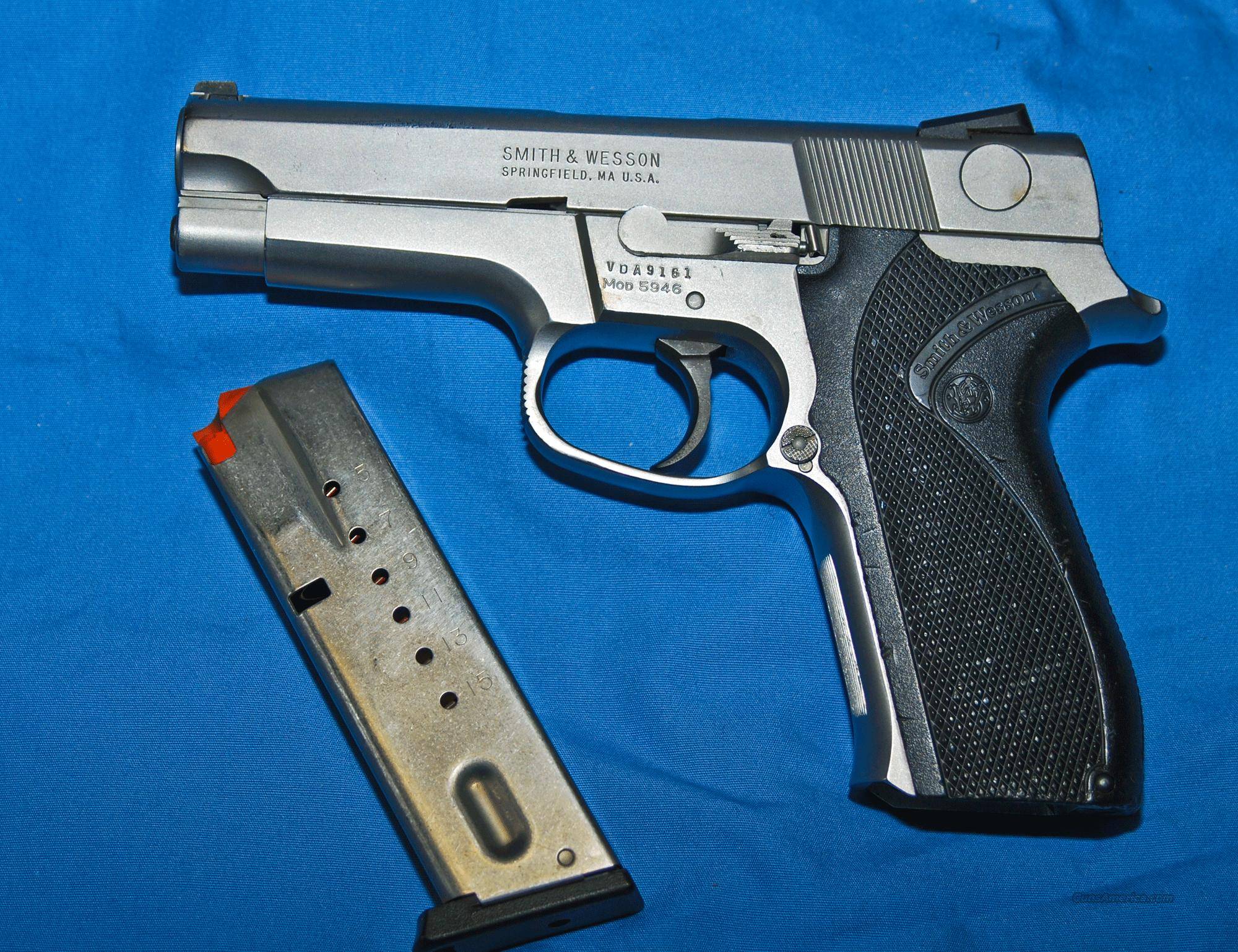 Smith and Wesson Model 5946. Chambered in 9MM  Guns > Pistols > Smith & Wesson Pistols - Autos > Steel Frame
