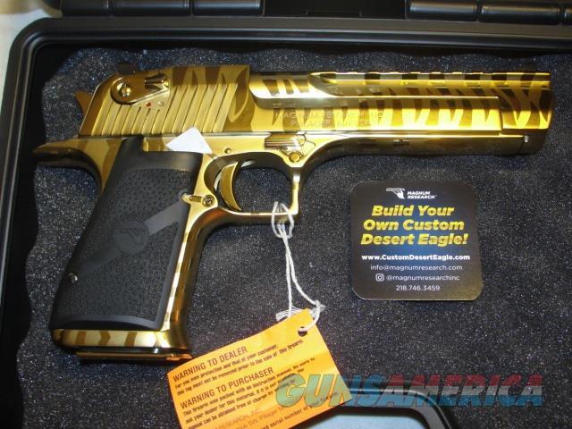 Desert Eagle 50AE MK19 Titanium Gold w/Tiger Strip  Guns > Pistols > Magnum Research Pistols