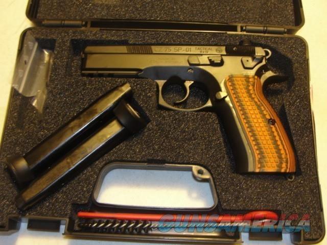 CZ-75 SP-01 TACTICAL W/G10 GRIPS NIGHT SIGHTS  Guns > Pistols > CZ Pistols