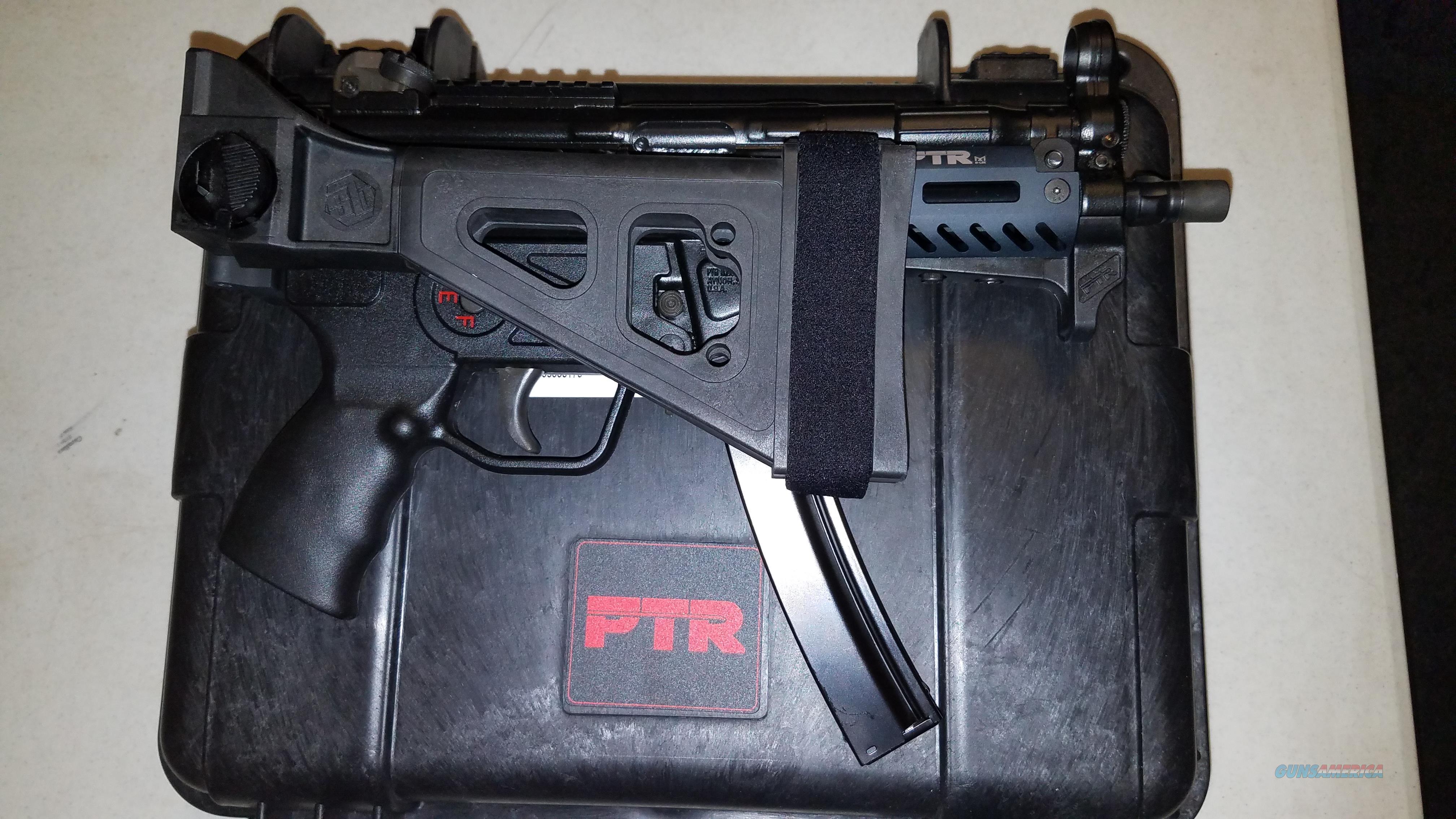 """PTR 9KT PISTOL 9MM 5.83"""" MLOK W/S&B Folding Brace  Guns > Pistols > PTR Pistols"""
