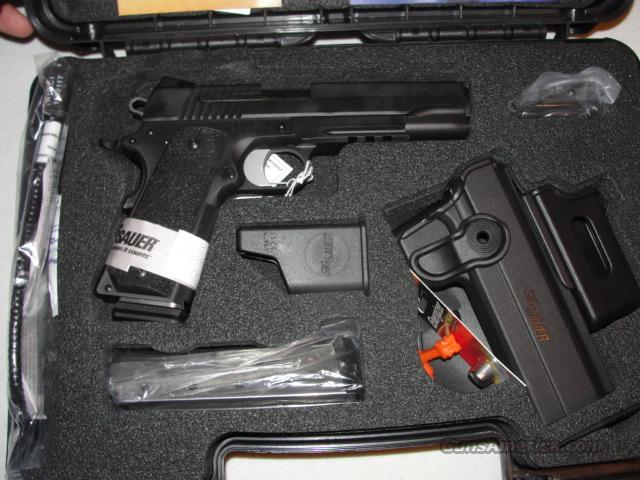 Sig Sauer 1911 Tactical Pac .45acp w/ rail, laser, holster w/ mag pouch, extra mag, hard case  Guns > Pistols > Sig - Sauer/Sigarms Pistols > 1911