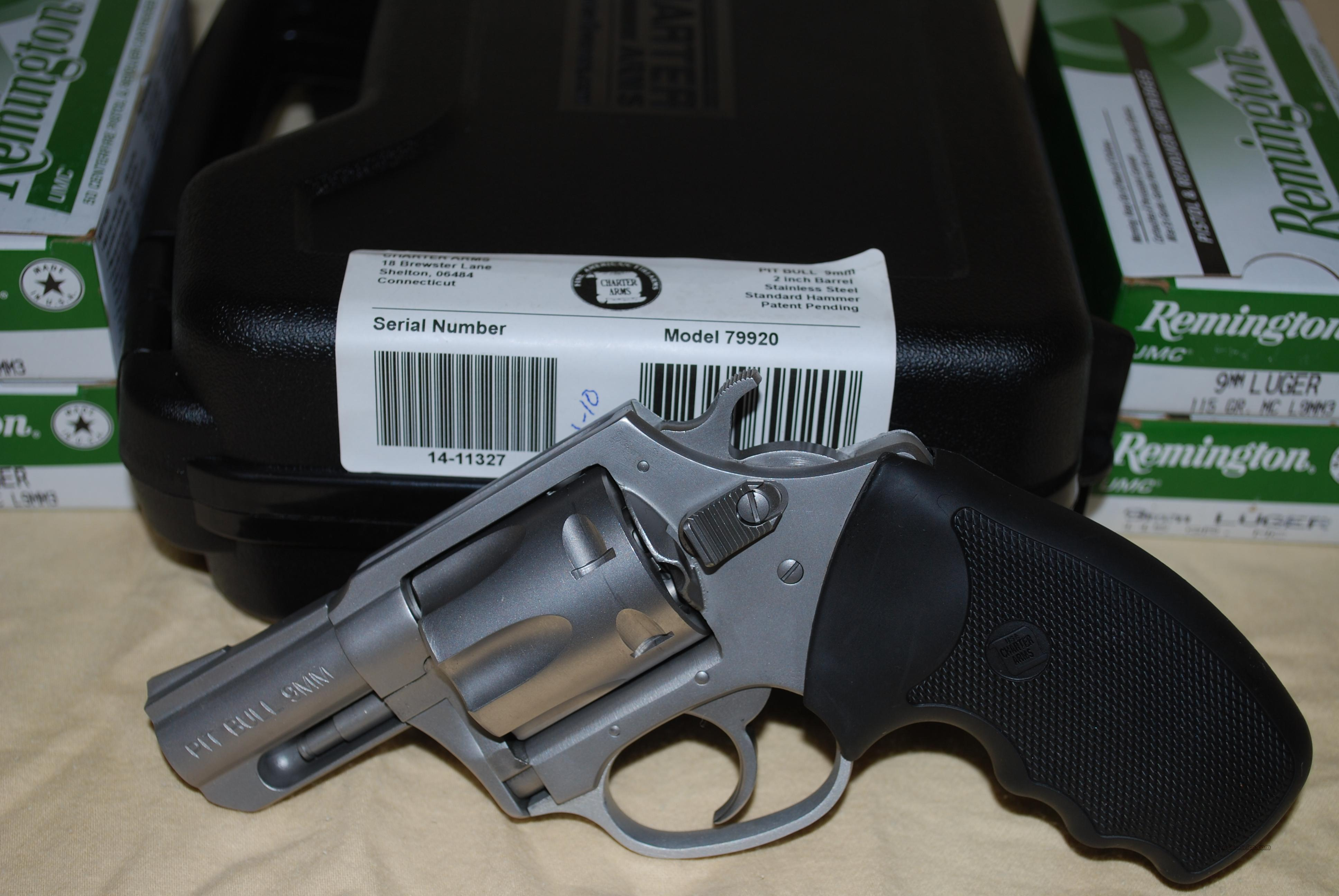 *RARE* Pit Bull 9MM Rimless Revolver NIB plus AMMO ~ NO MOON CLIPS REQUIRED!!!!!!!!!  Guns > Pistols > Charter Arms Revolvers