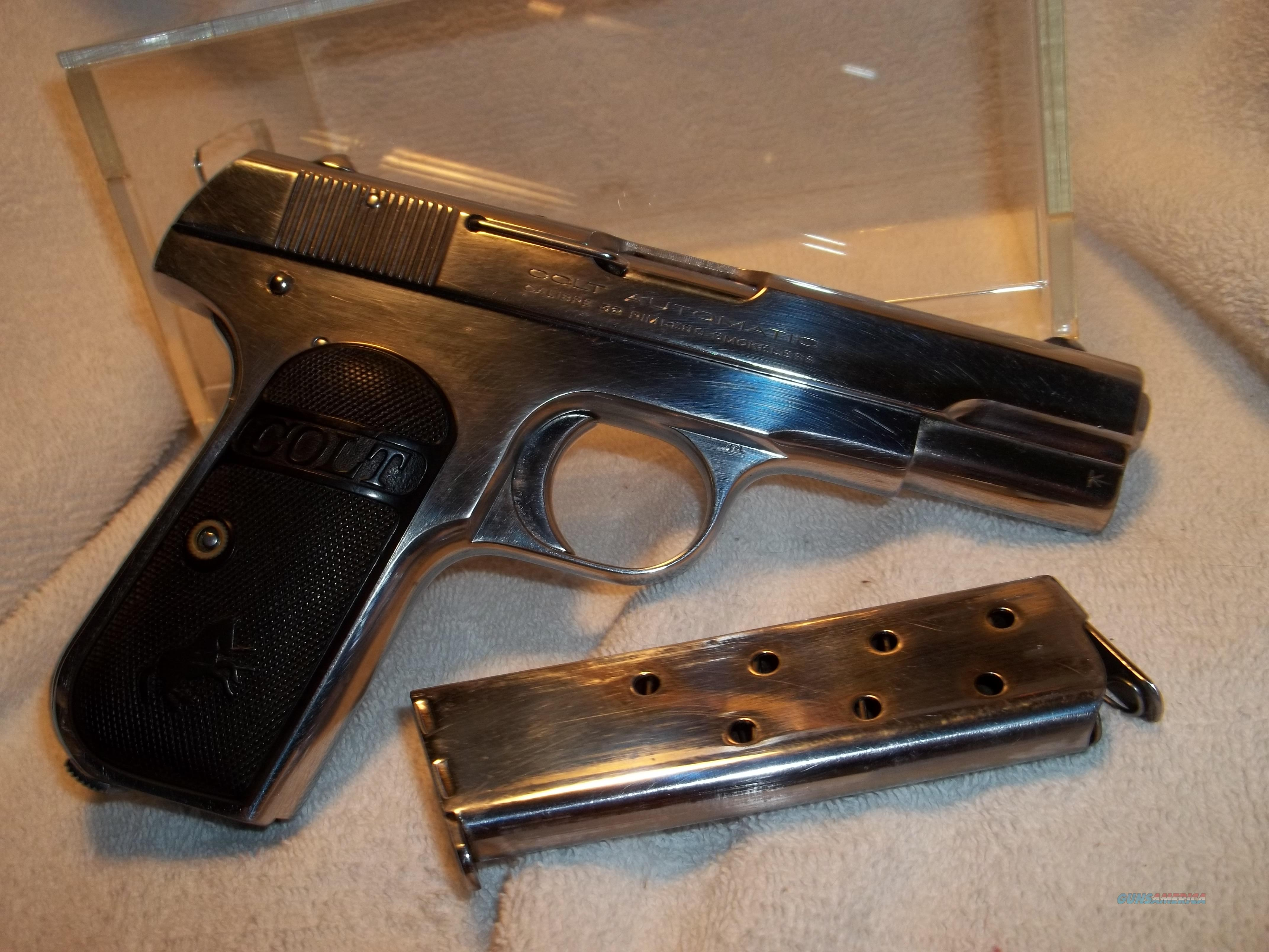 Colt 1903 .32 Nickel Finish  Guns > Pistols > Colt Automatic Pistols (.25, .32, & .380 cal)