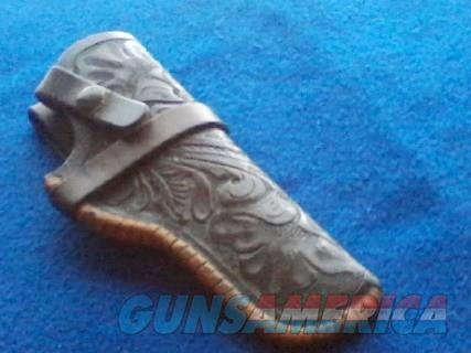 Rare Vintage Herman H Heiser Leather Holster  Non-Guns > Holsters and Gunleather > Cowboy