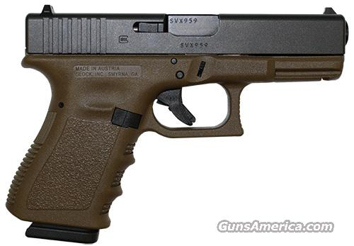 GLOCK 19 GEN 3 FLAT DARK EARTH .9MM   Guns > Pistols > Glock Pistols > 19