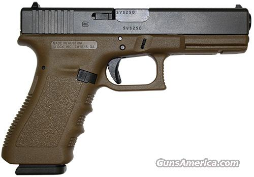 GLOCK 17 GEN 3 FLAT DARK EARTH .9MM  Guns > Pistols > Glock Pistols > 17