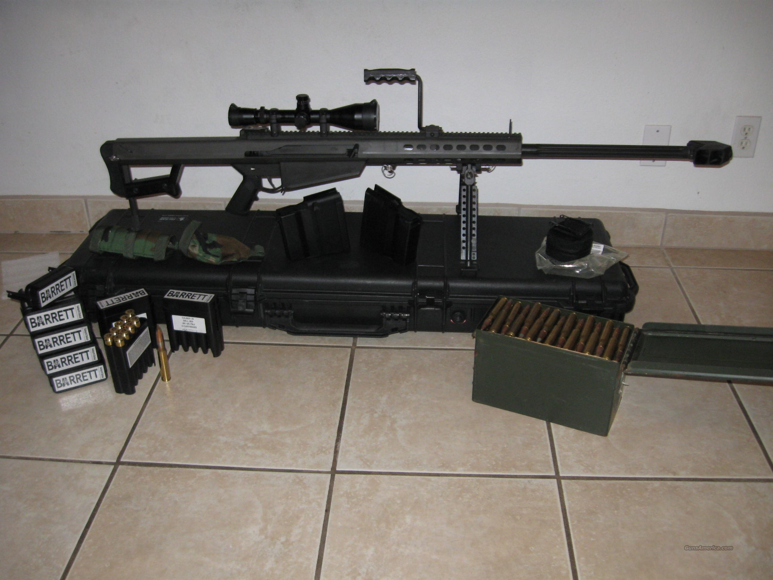 Barrett M107 - Scope, hardcase, ammo  Guns > Rifles > Barrett Rifles